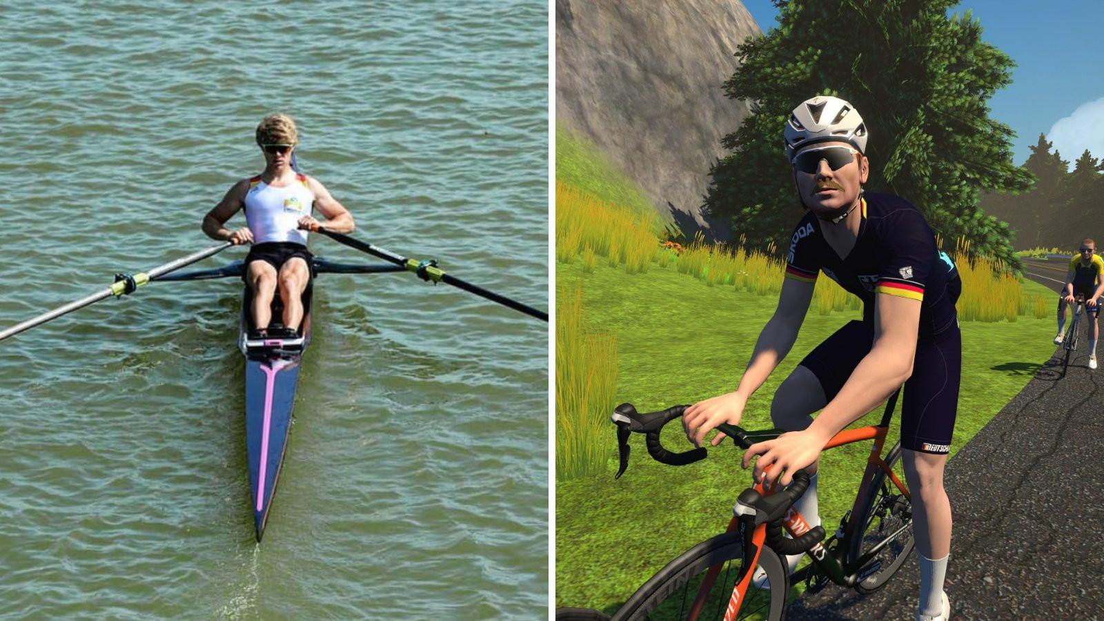 German rower Jason Osborne won the men's UCI Cycling Esports World Championships ©UCI