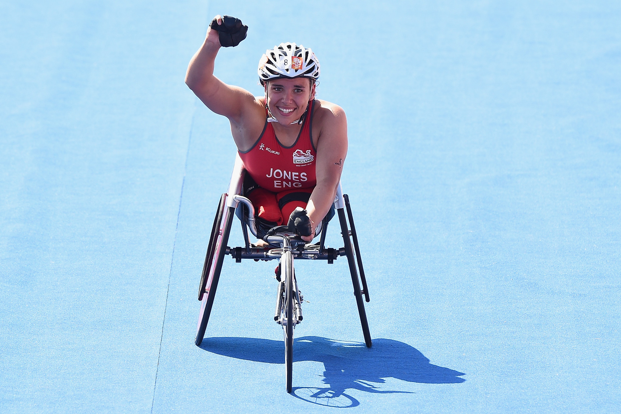 Jade Jones-Hall, who won gold in Para-triathlon at the 2018 Commonwealth Games, is taking a break from sport ©Getty Images