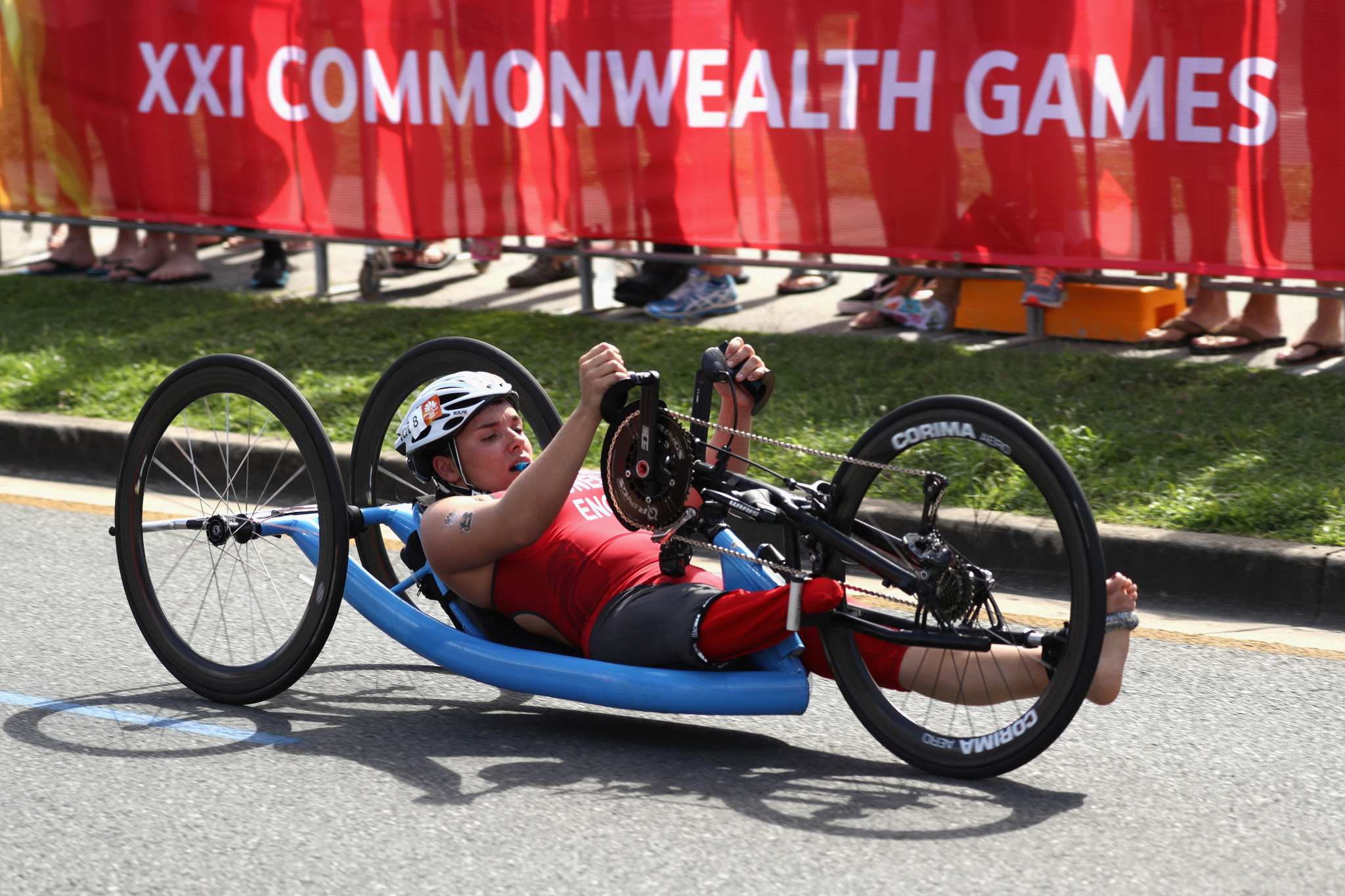 Jade Jones-Hall started competing in Para-triathlon in 2016 ©Getty Images