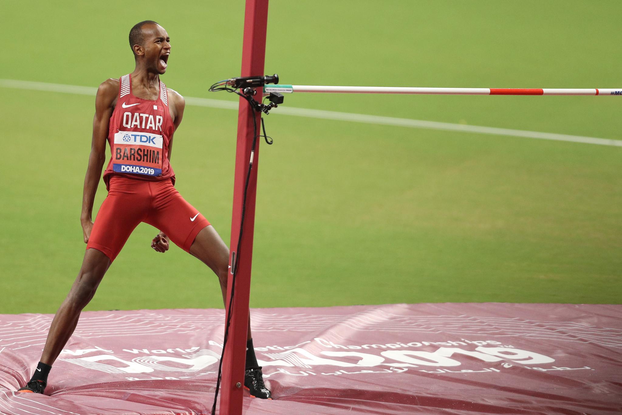 Two-time high jump world champion Mutaz Essa Barshim has backed the Doha 2030 Asian Games bid ©Getty Images