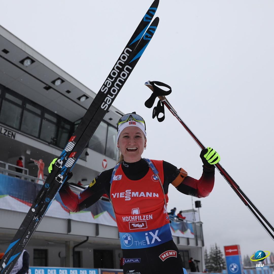 Røiseland wins 10km pursuit title at Austrian Biathlon World Cup leg