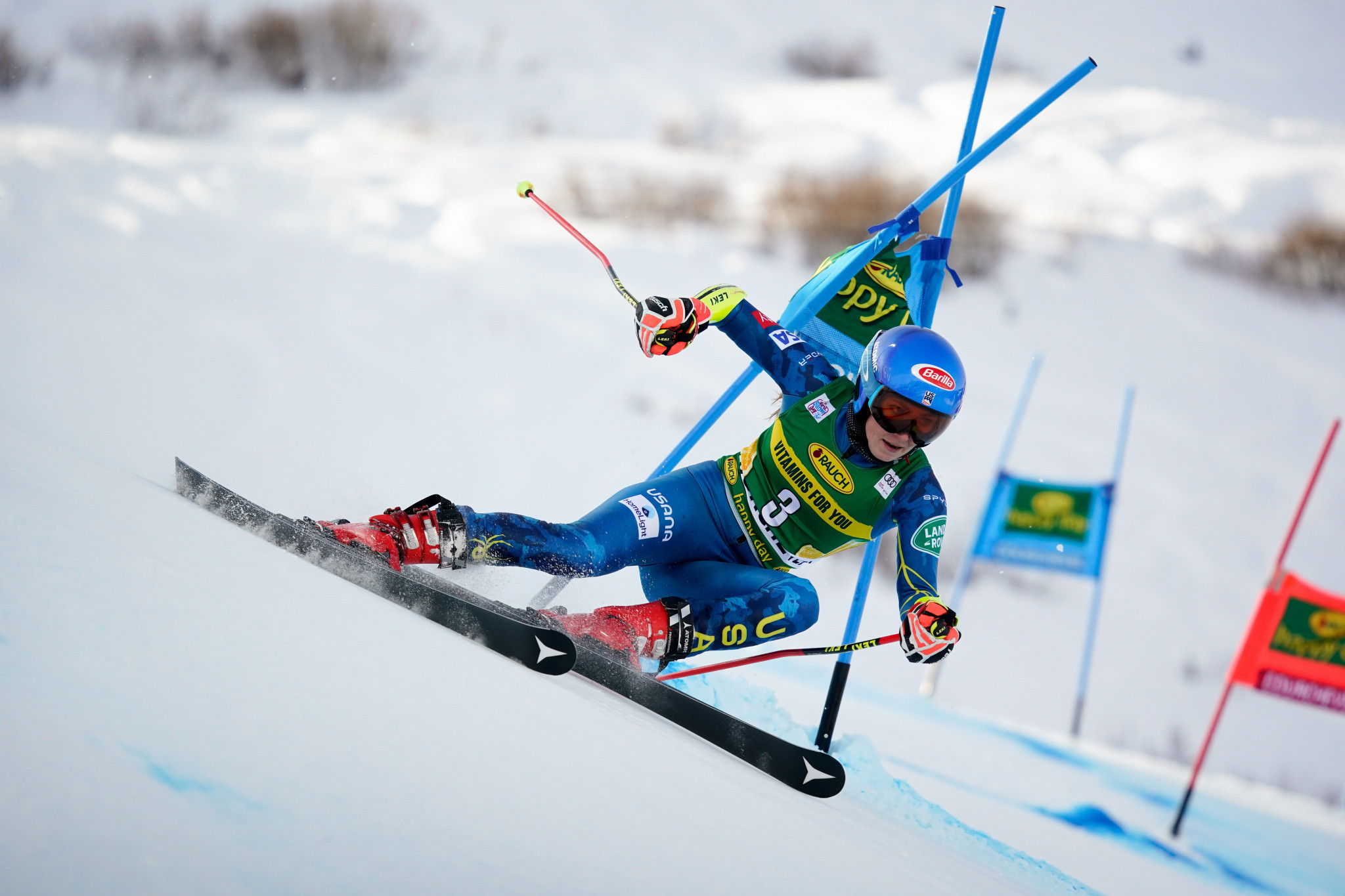 Mikaela Shiffrin won her first FIS Alpine Ski World Cup event since January ©Getty Images