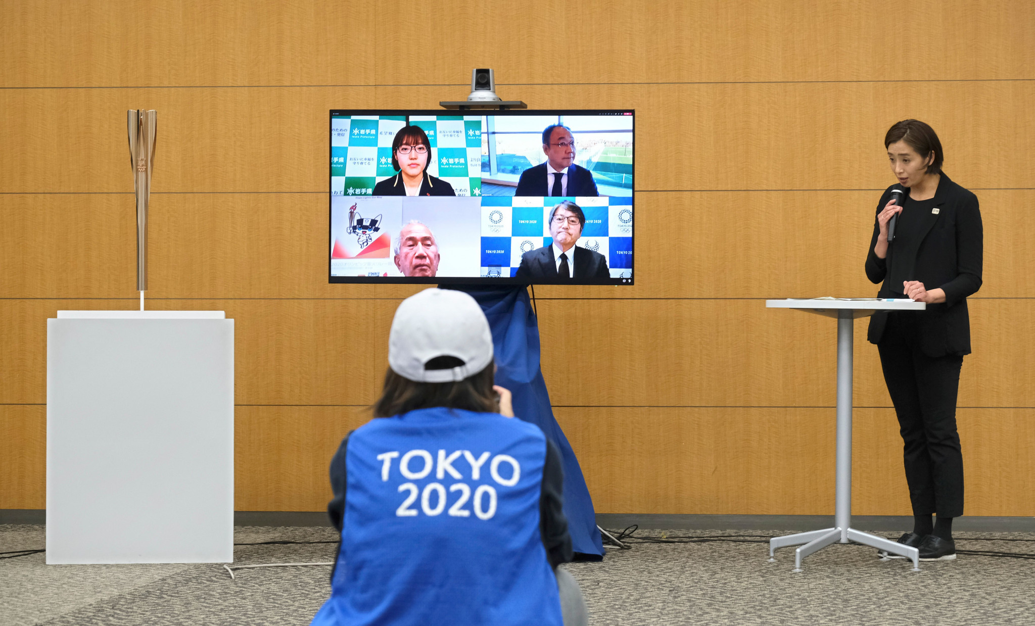Torch Relay measures were announced during a virtual press conference today ©Getty Images