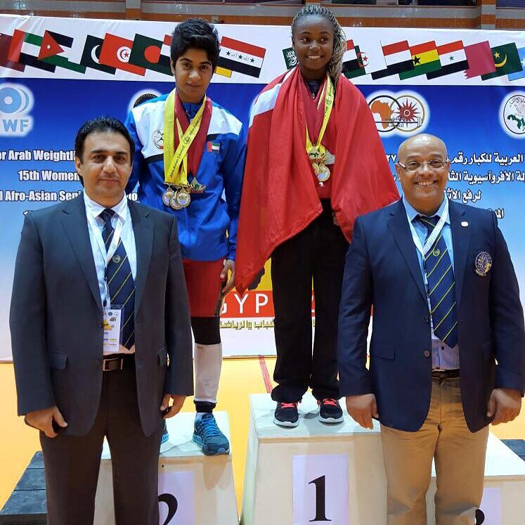 Tunisia's Ghofrane Belkhir was the only non-Egyptian winner in women's competition, claiming the 58kg title