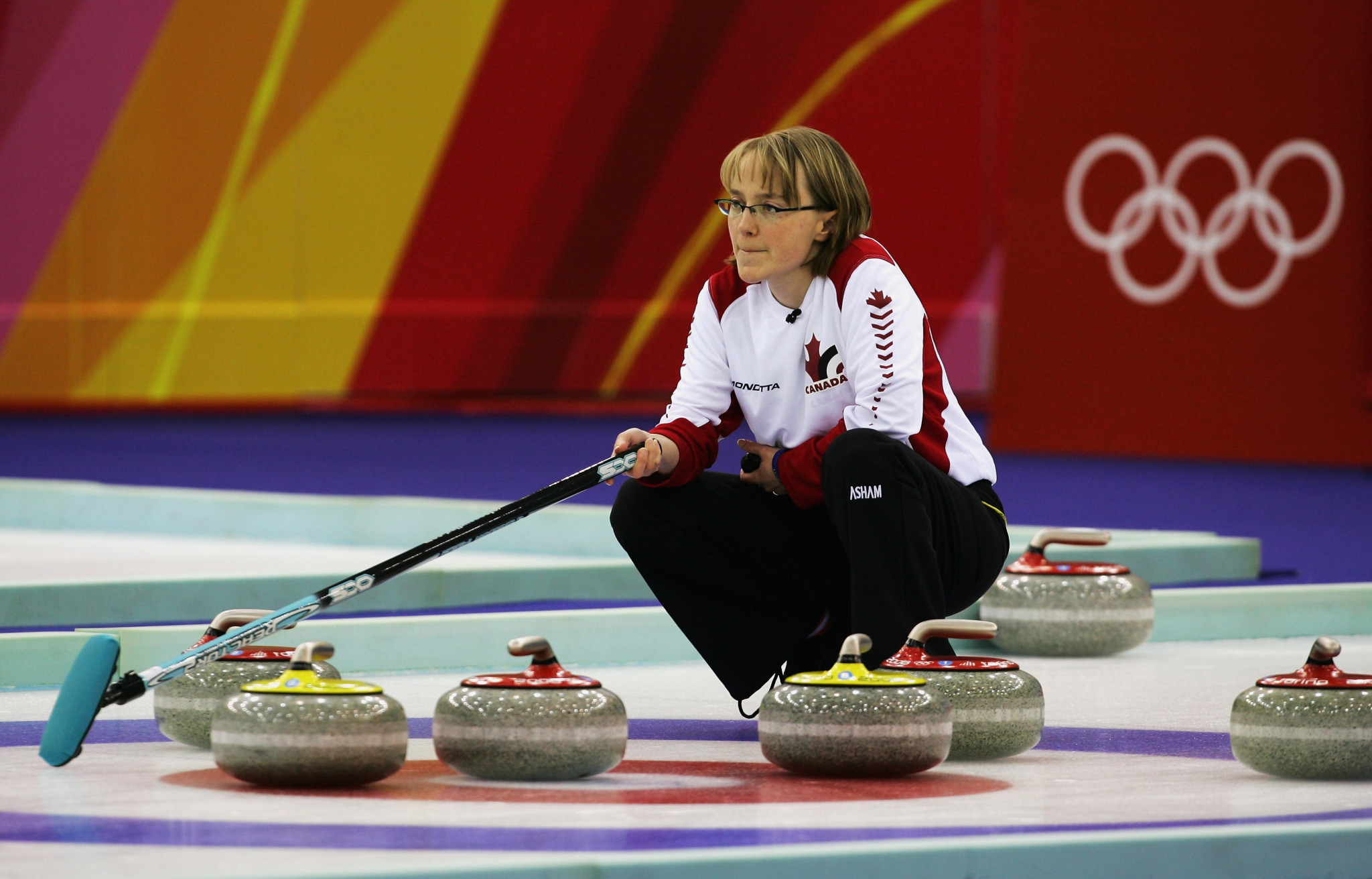 Amy Nixon won a bronze medal in the women's tournament at Turin 2006 ©Getty Images