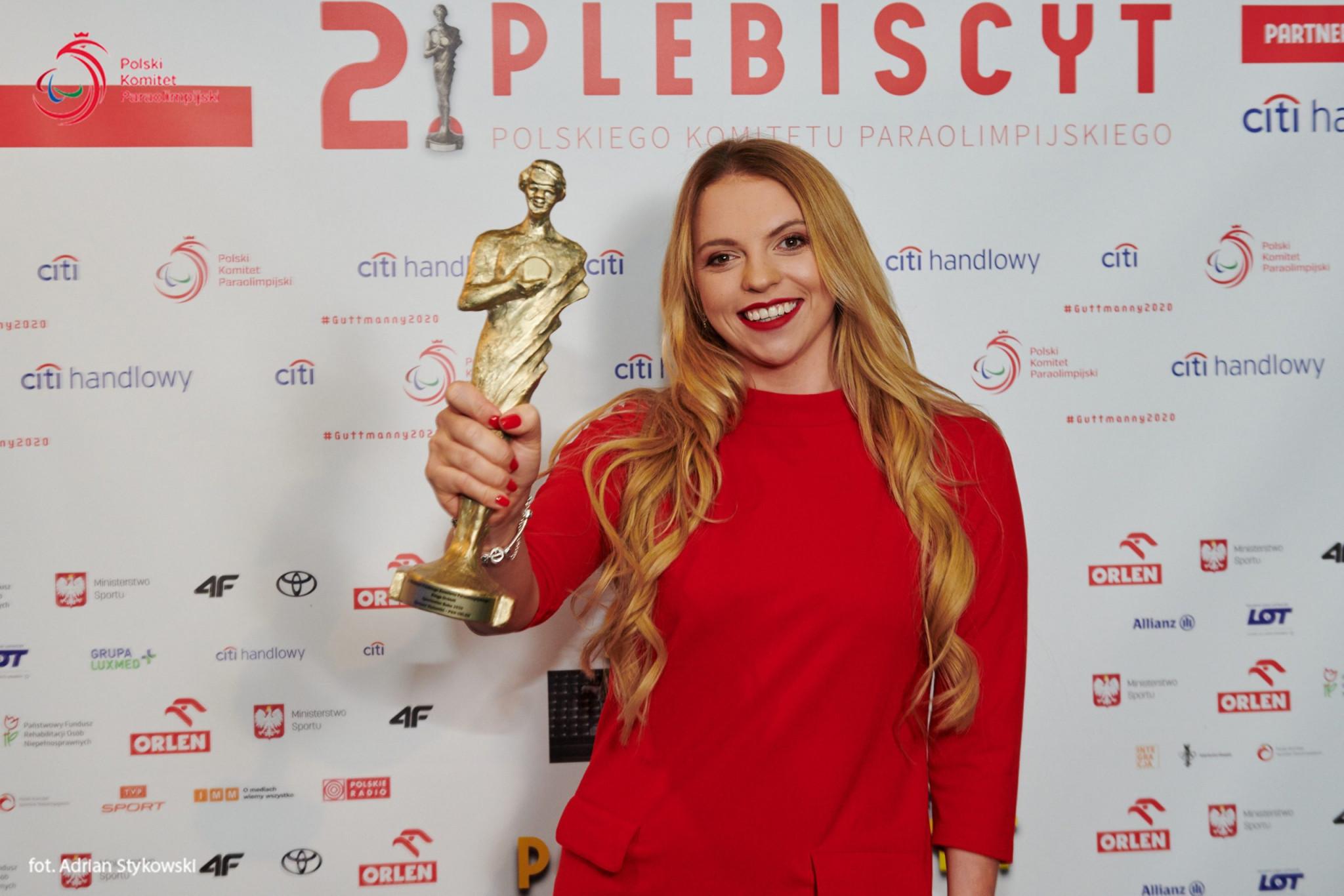 Kinga Dróżdż is the Polish Paralympic Athlete of the Year ©PPC
