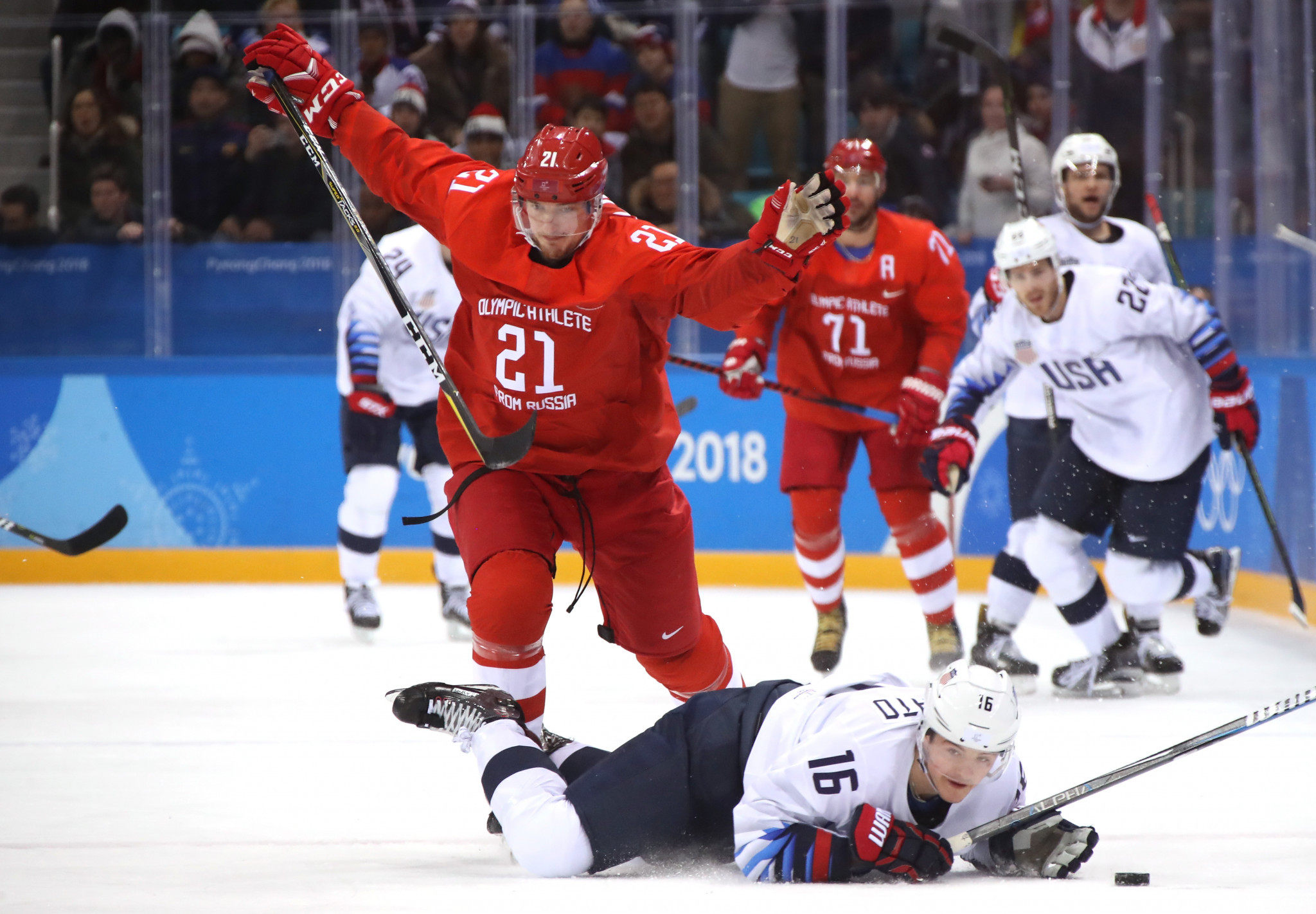 Russian athletes competed as neutrals at Pyeongchang 2018 under the banner