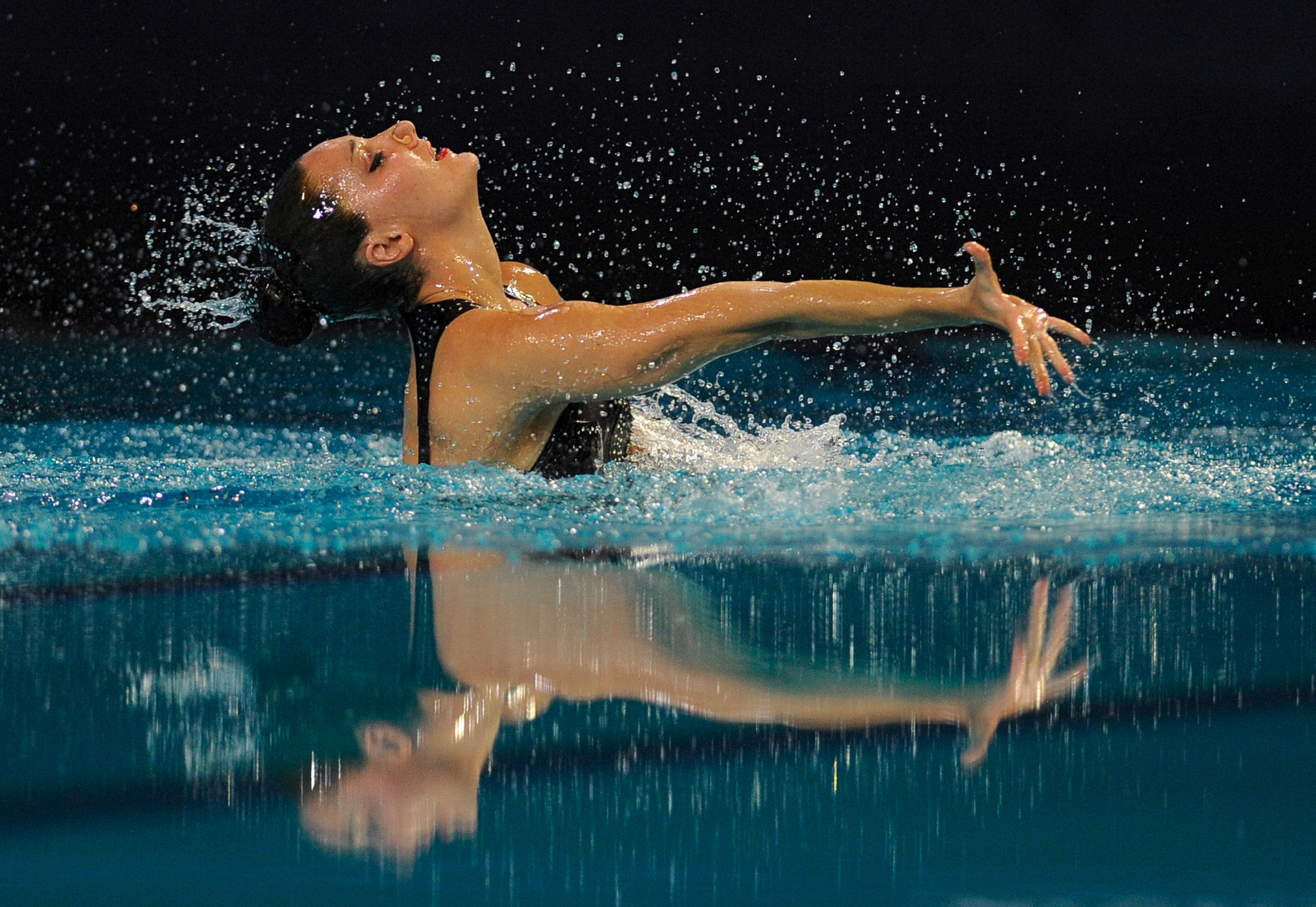 Andrea Fuentes helped design the routines for the FINA Artistic Swimming Virtual Challenge ©Getty Images