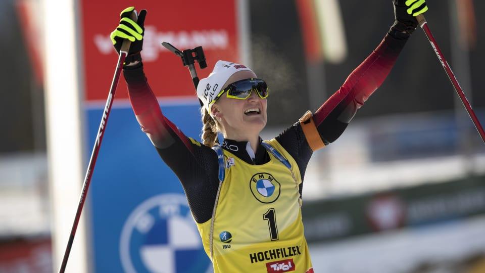 Roeiseland and Peiffer win mass start events at IBU World Cup in Hochfilzen