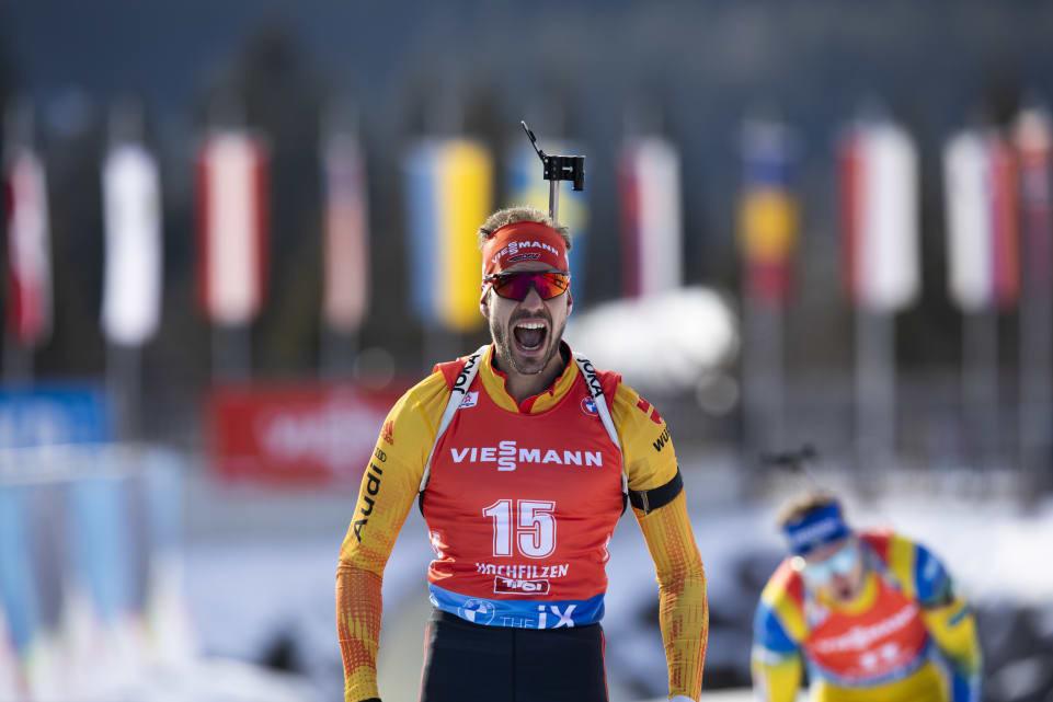 Arnd Peiffer was the victor in the men's mass start in Hochfilzen ©IBU