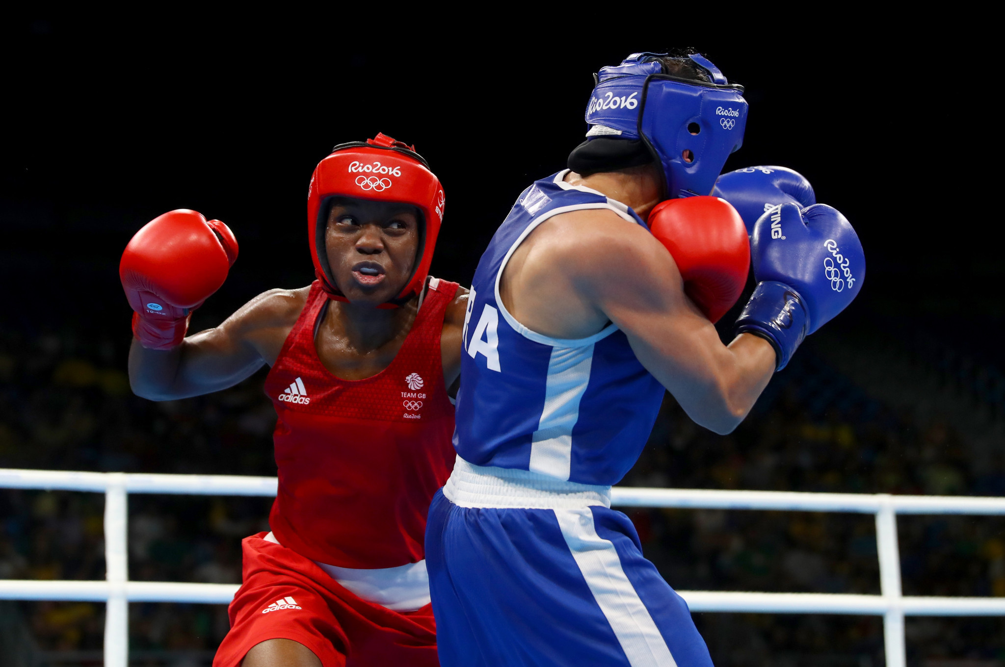 Olympic champion Nicola Adams was among Britain's three medal winners at Rio 2016 ©Getty Images