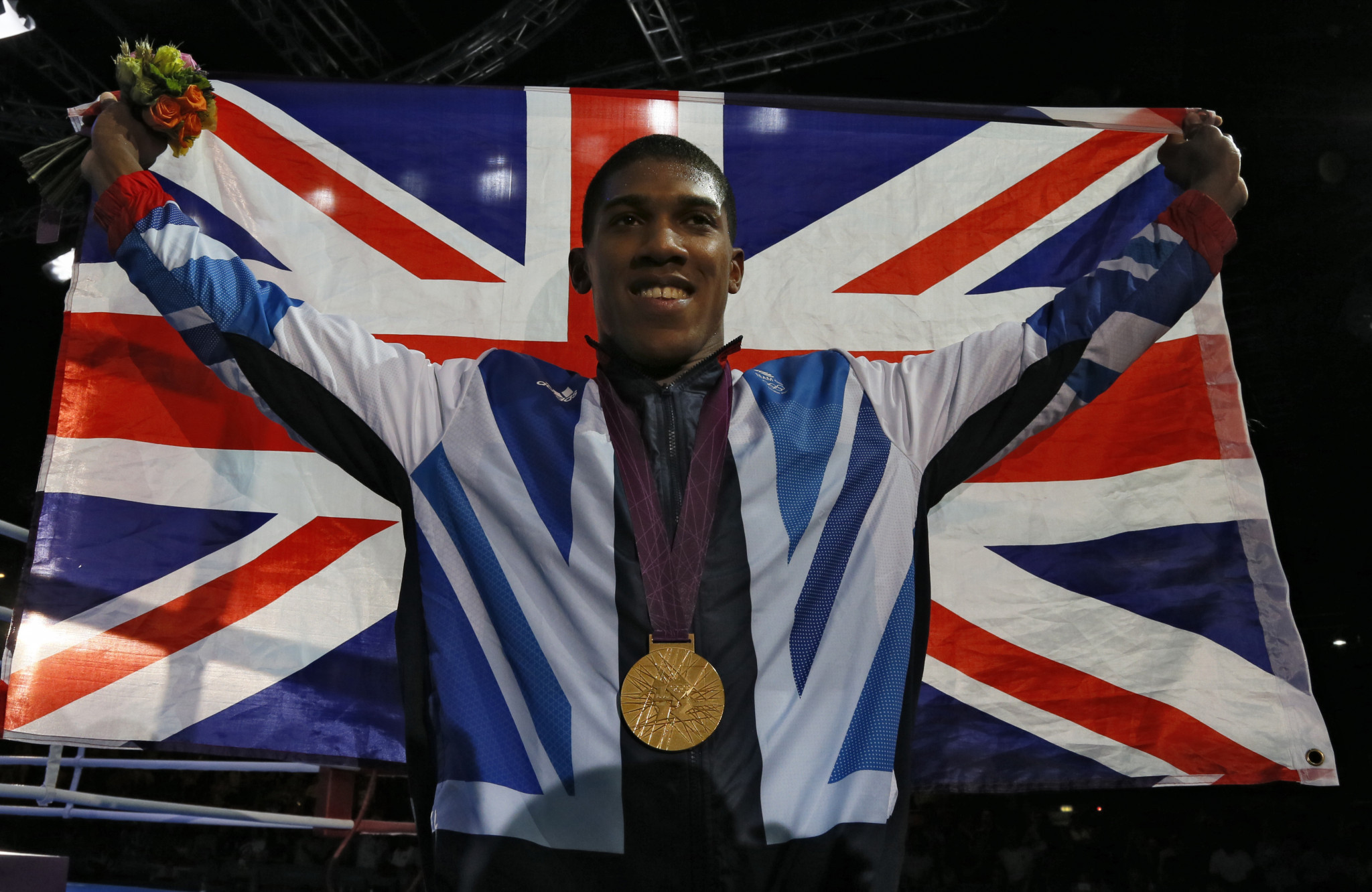 Anthony Joshua earned an Olympic gold medal in the boxing contest at London 2012 ©Getty Images
