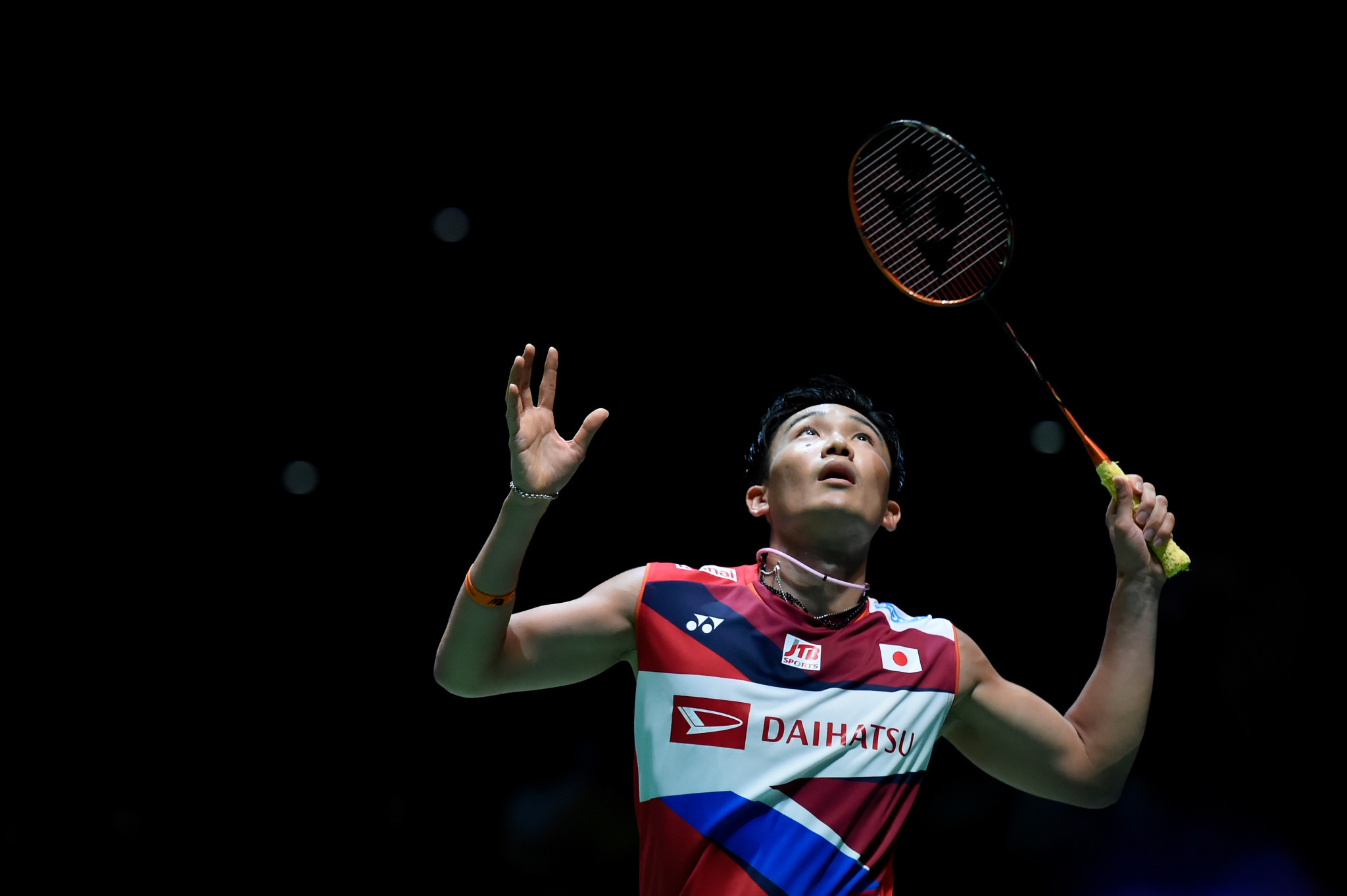 The world's top ranked badminton player Kento Momota returned to competition for the first time since his Malaysia Masters victory in January