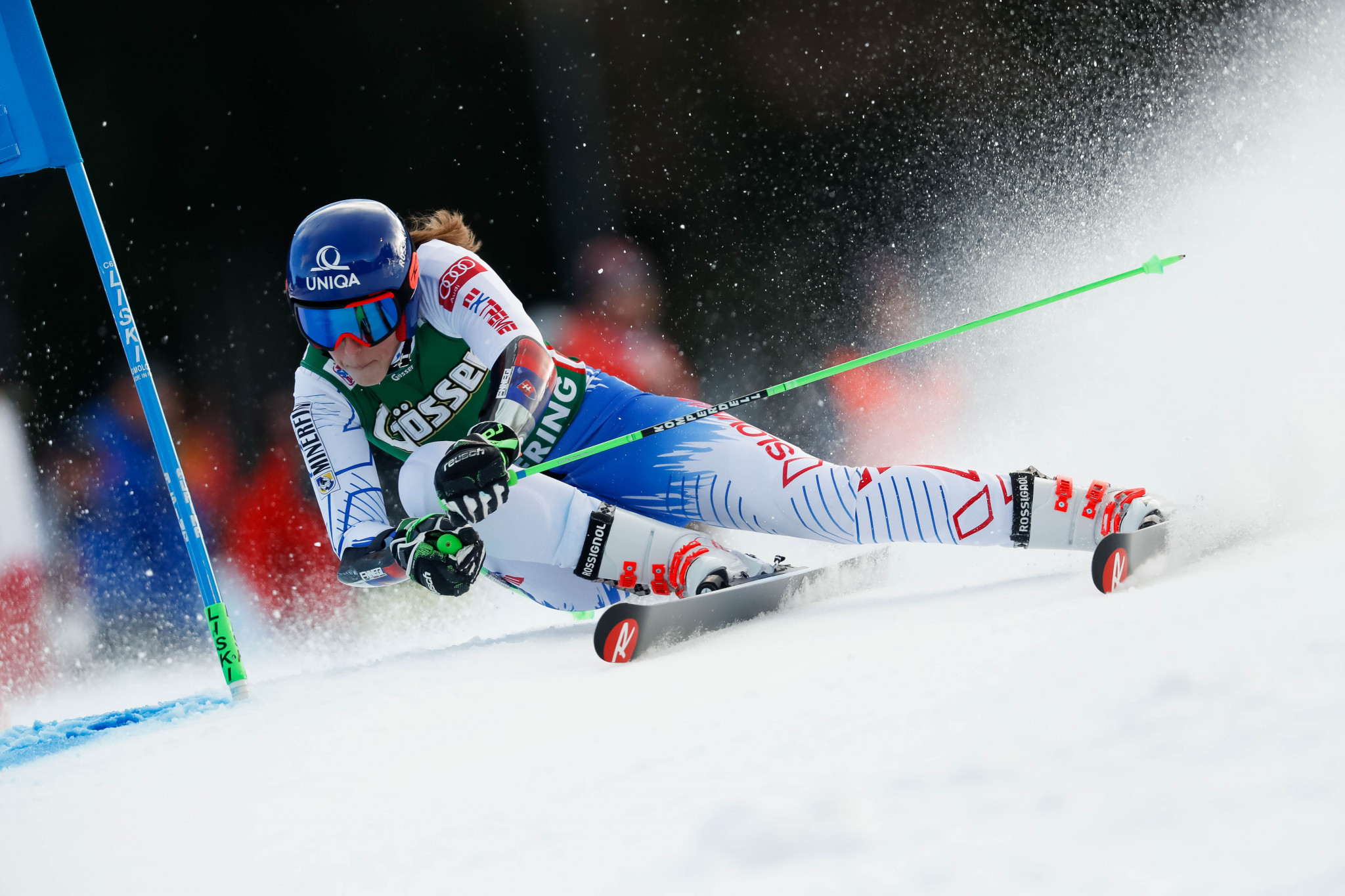 Petra Vlhová was victorious in the last giant slalom race held in Semmering ©Getty Images