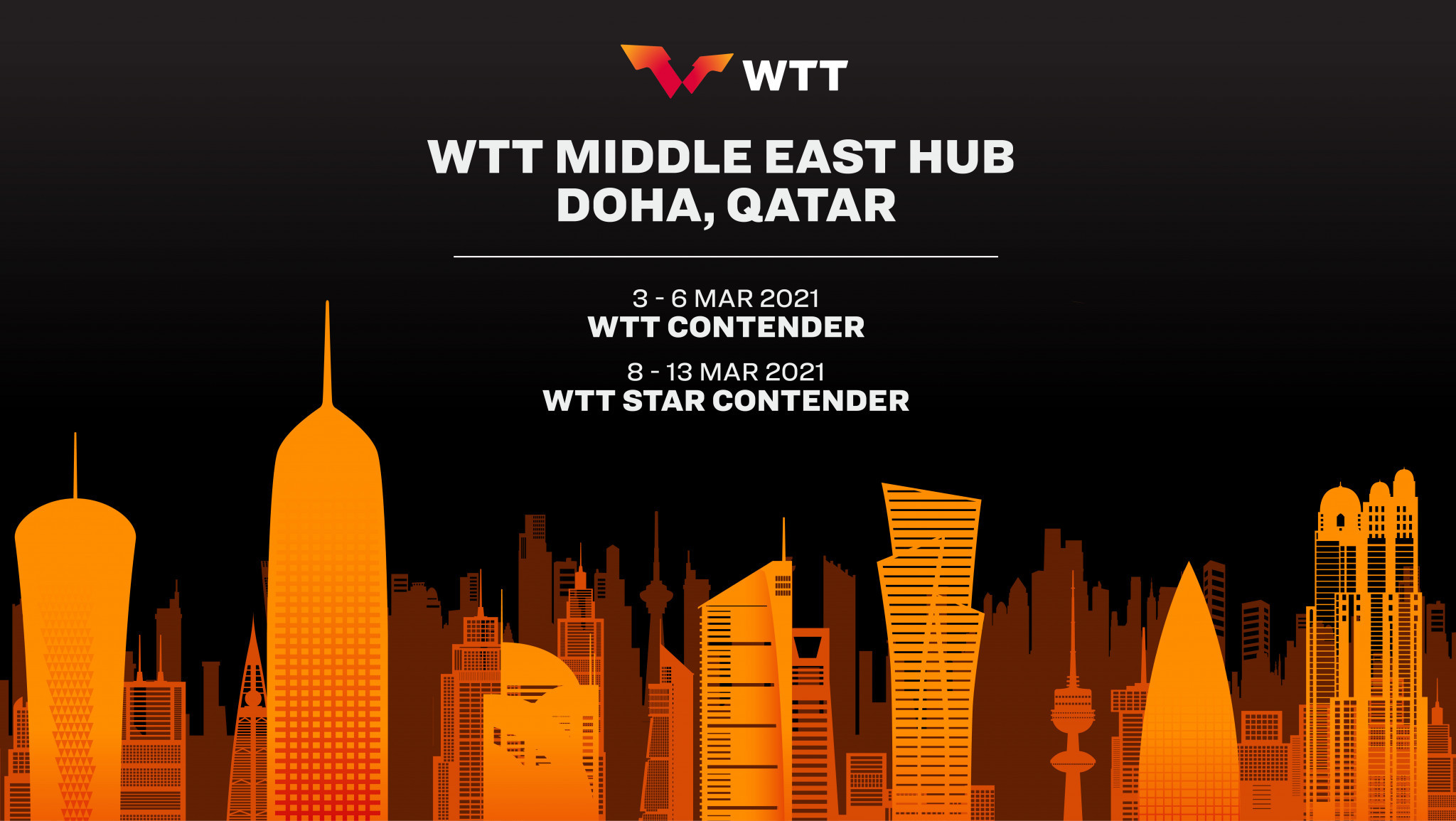 Doha is set to be the first World Table Tennis hub location ©WTT