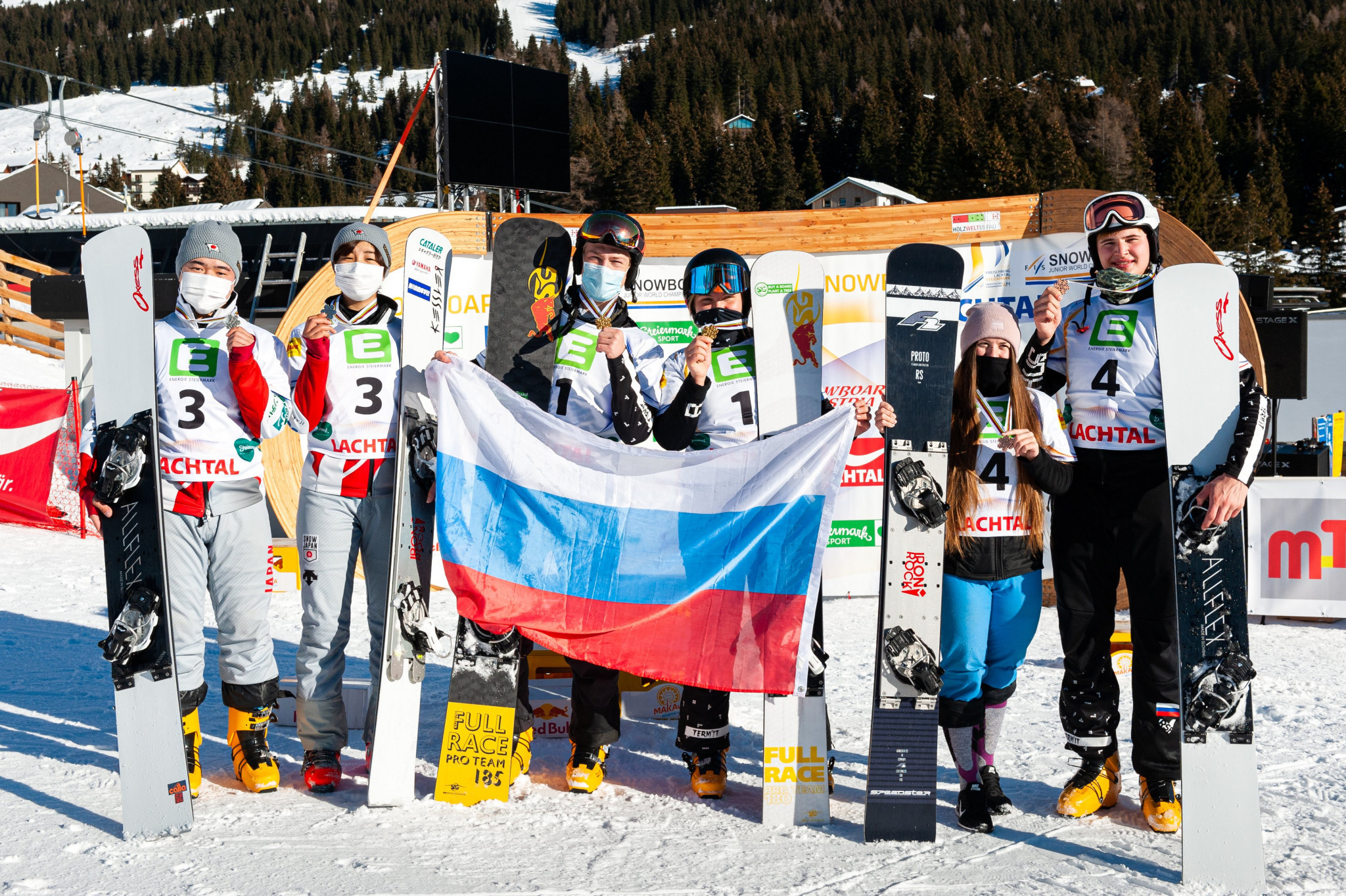 Russia perform clean sweep at FIS Snowboard Alpine Junior World Championships