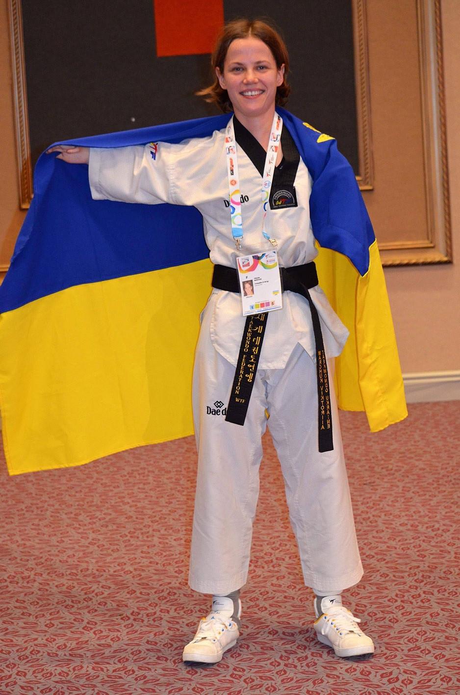 Para-taekwondo pioneer Marchuk receives Merited Master of Sport honour