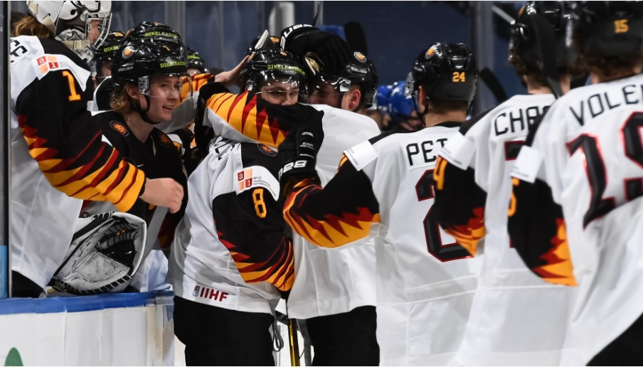Germany were heavily impacted by positive COVID-19 cases among the team in the run-up to the IIHF World Junior Championships ©Matt Zambonin/IIHF Images