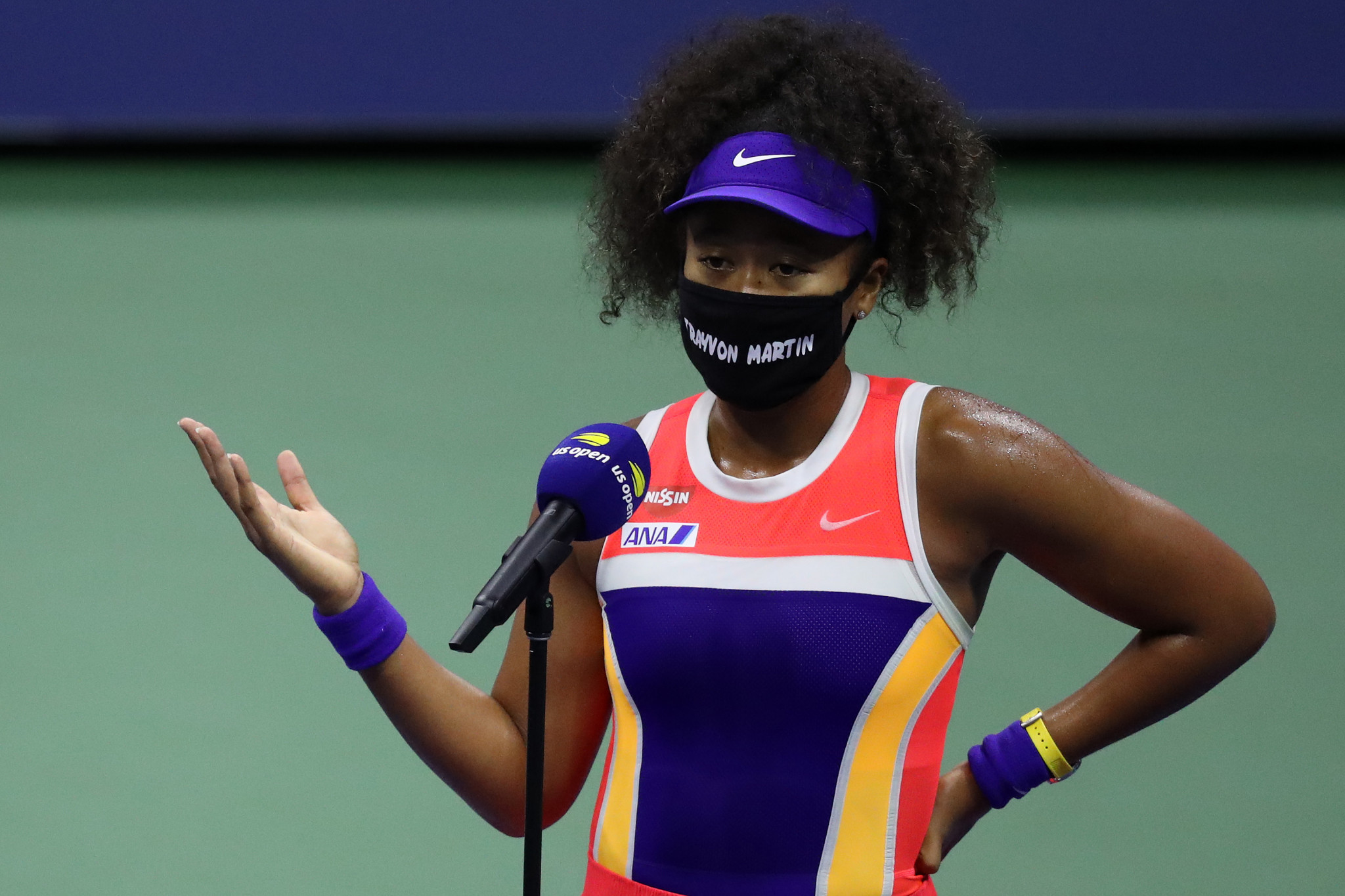 Naomi Osaka won the US Open in September and wore masks showing the names of police brutality victims during the tournament ©Getty Images