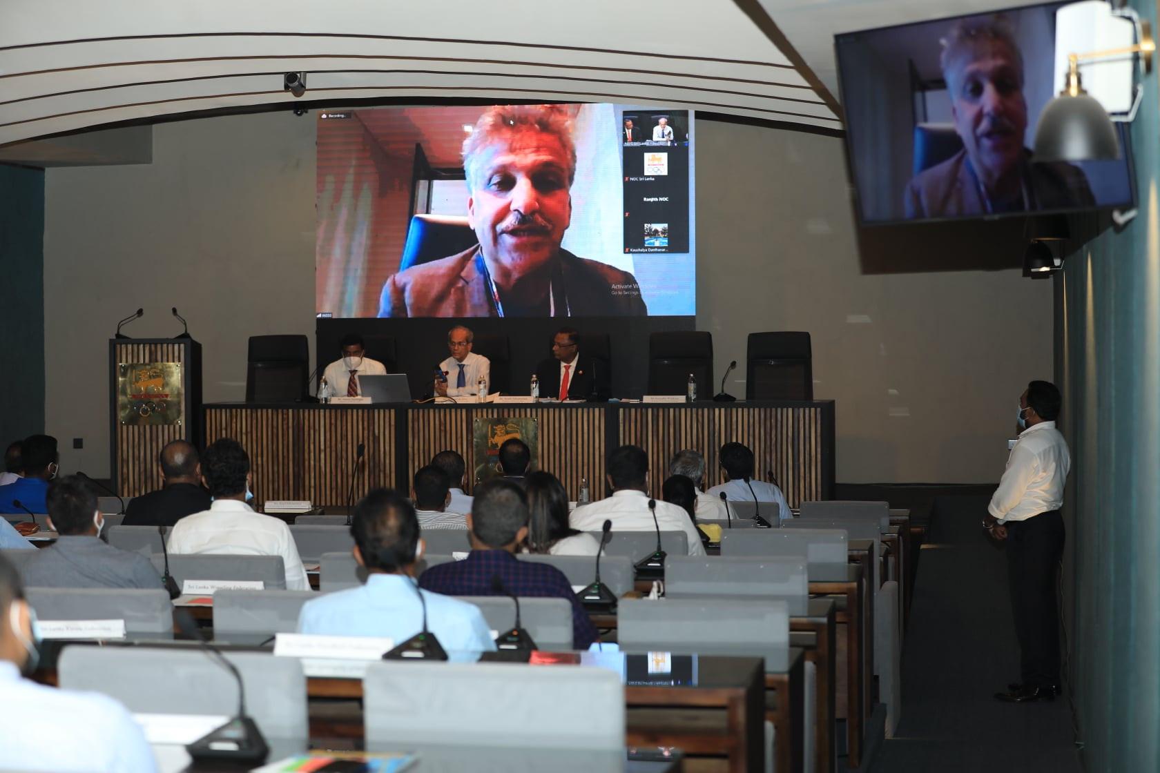 NOC of Sri Lanka opens renovated Hemasiri Fernando Auditorium
