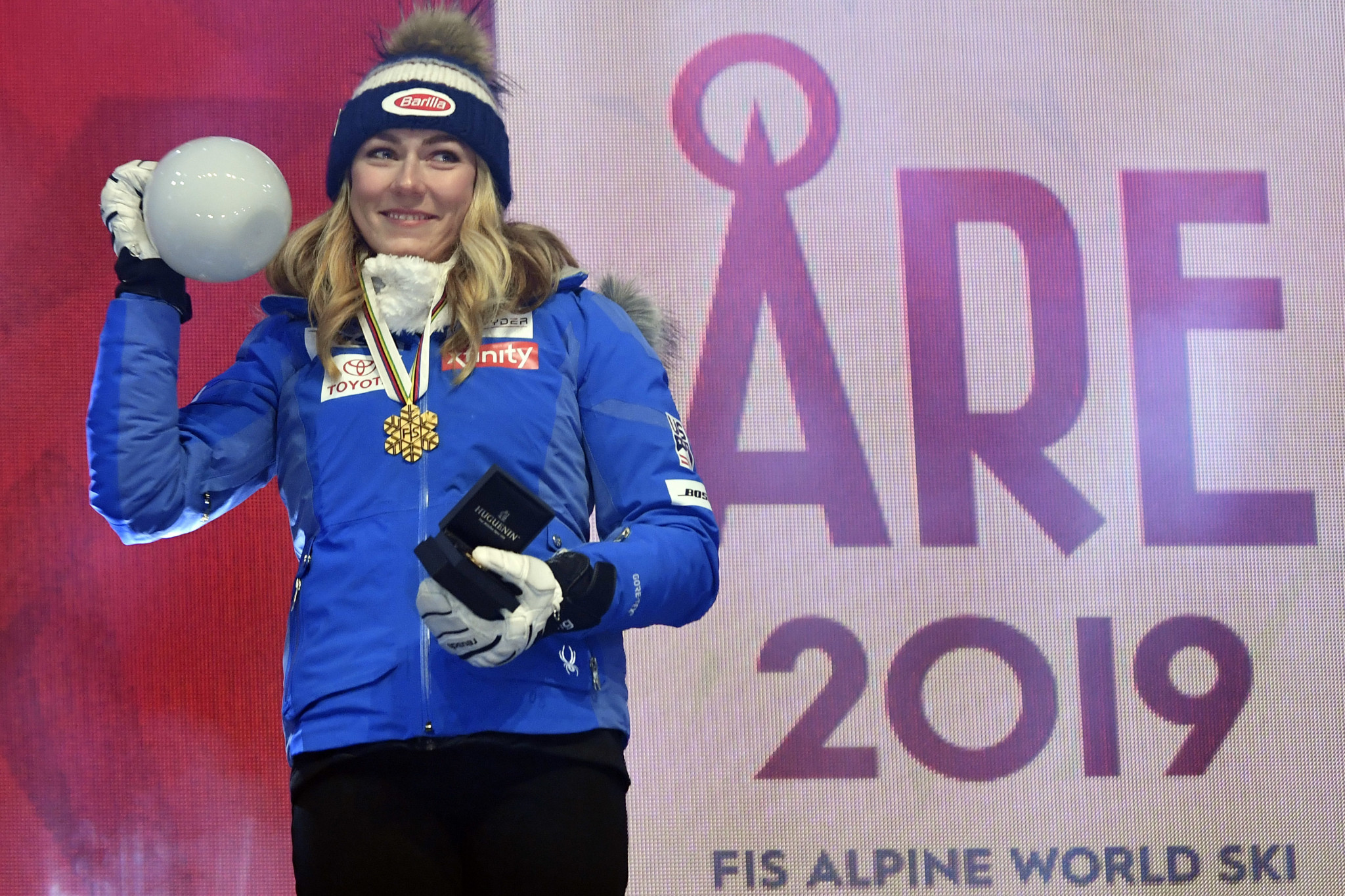 Mikaela Shiffrin clinched the world super-G title in Sweden in 2019 ©Getty Images