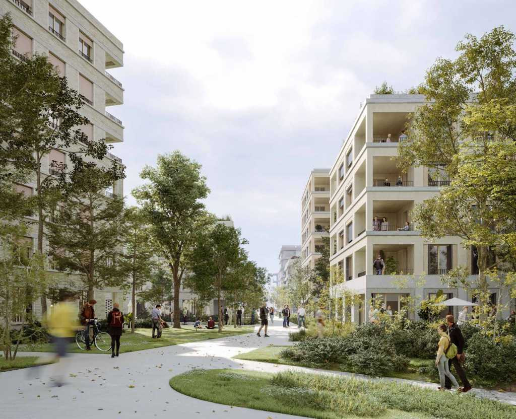 An artist's impression of the Aires des Vents sector, the construction of which may be delayed by a legal challenge ©Sogeprom / Demathieu & Bard Immobilier