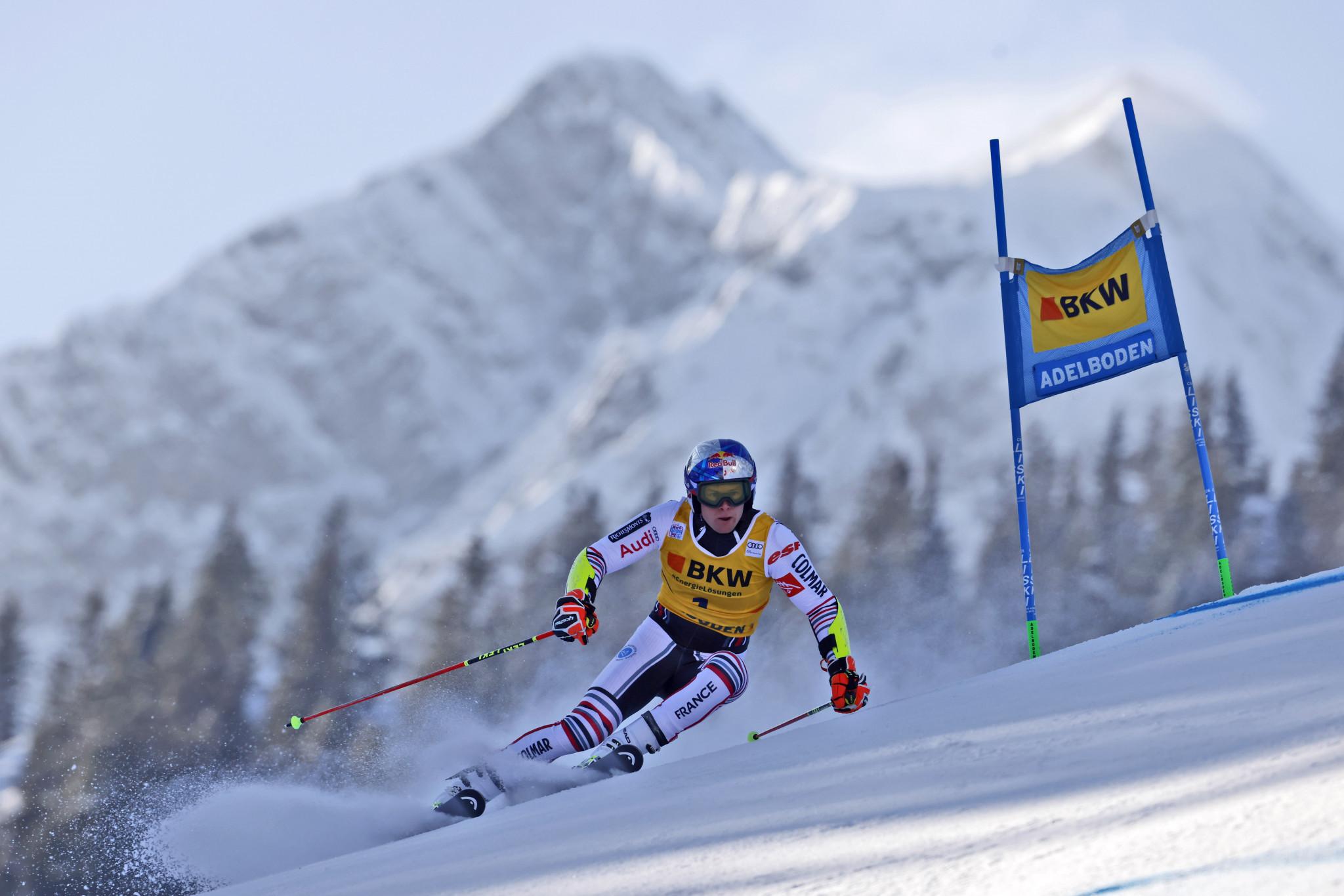 Pinturault dominates men's giant slalom competition in Adelboden