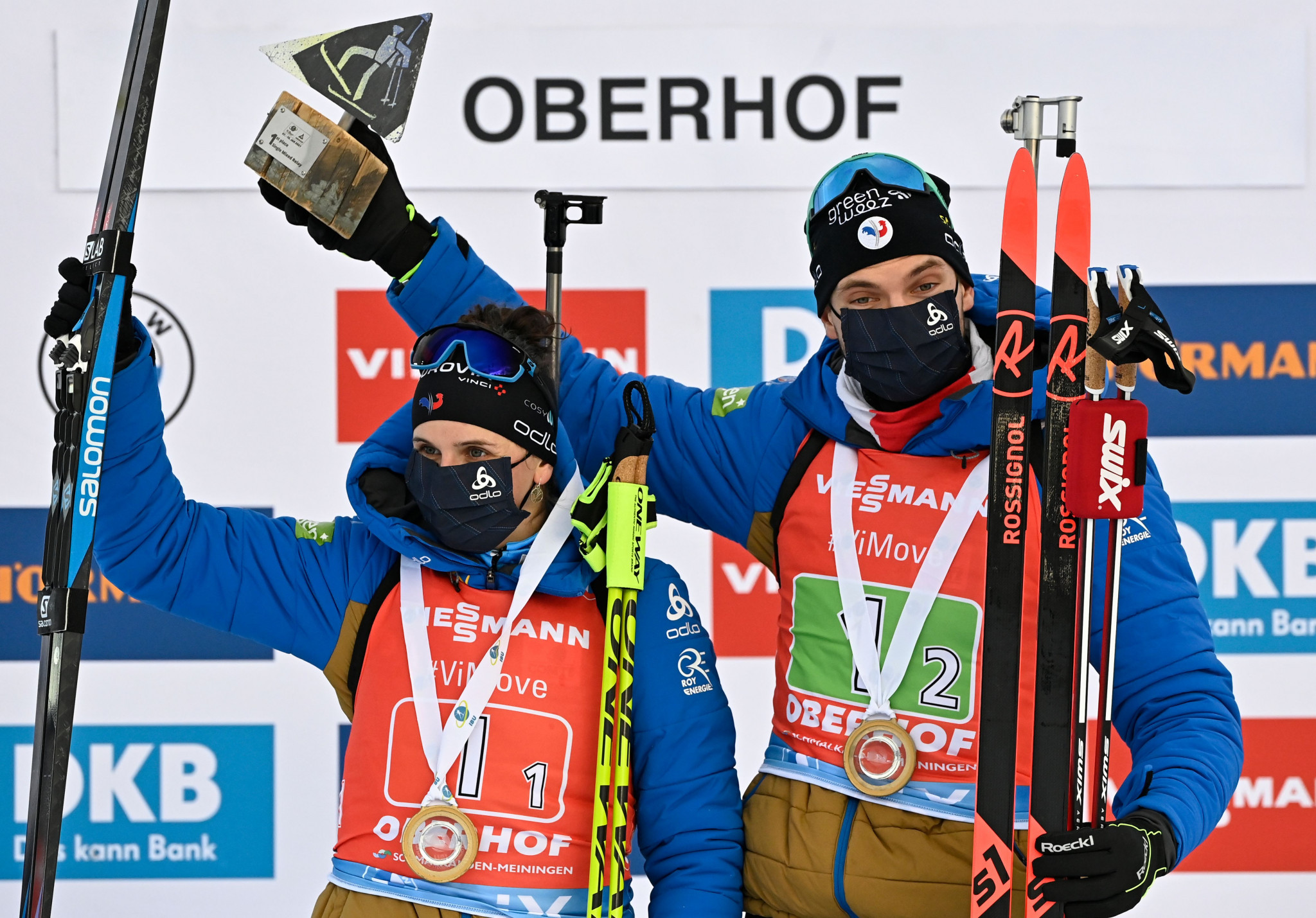 Russia and France win relay events on final day of IBU World Cup in Oberhof