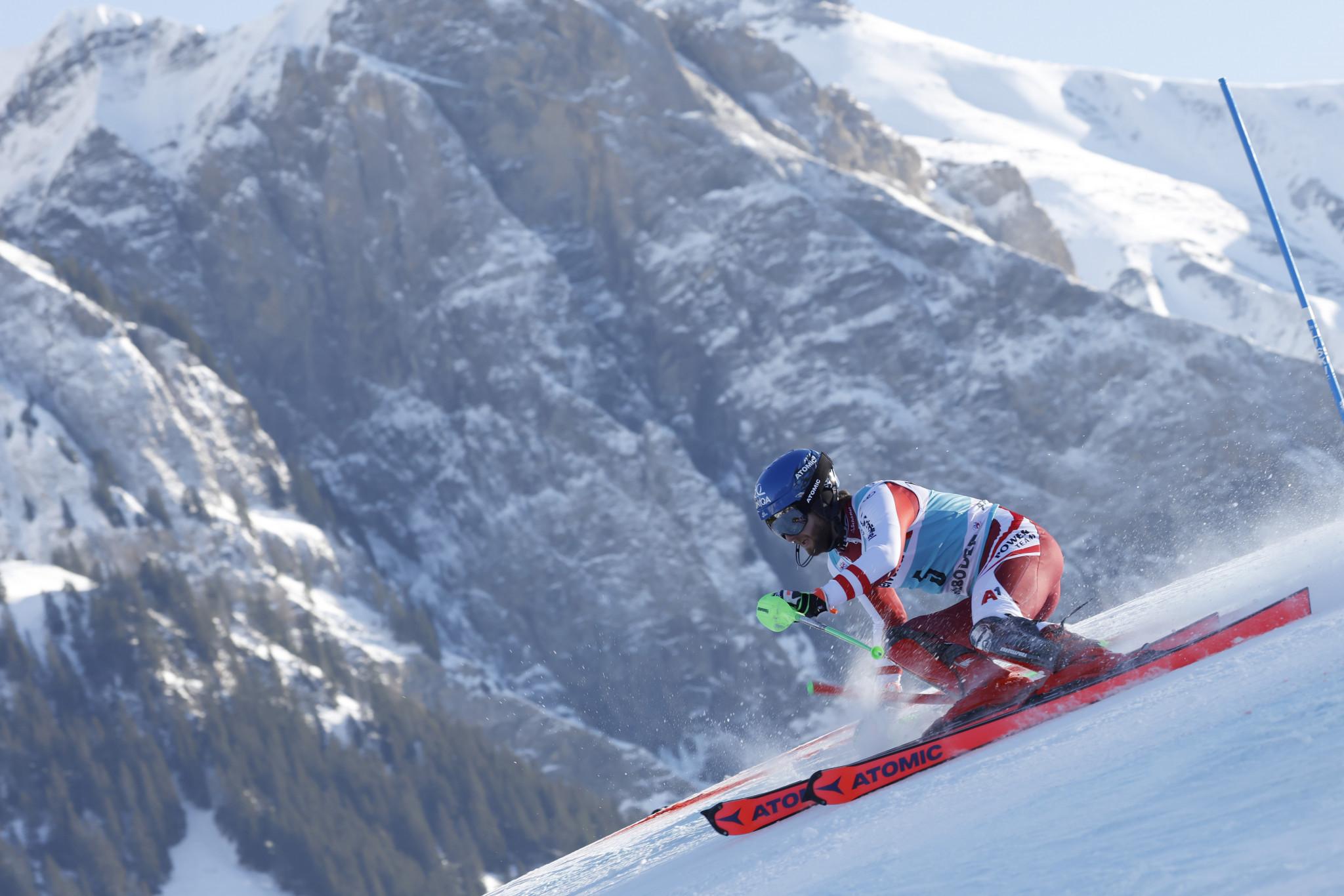 Schwarz earns slalom victory at FIS Alpine Ski World Cup in Adelboden