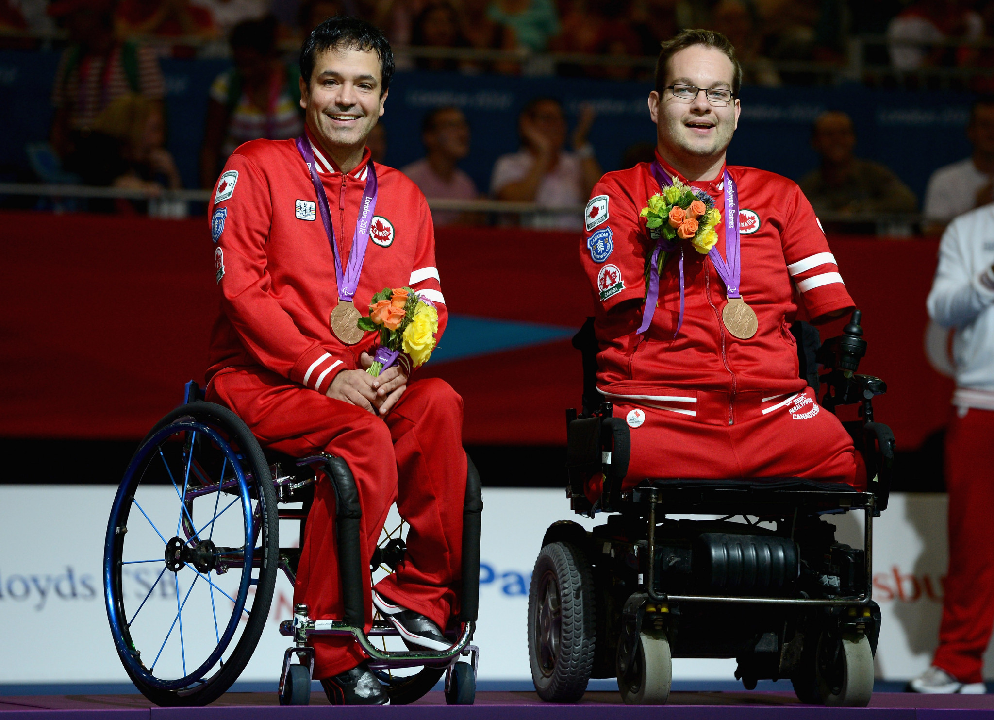 Marco Dispaltro, left, and Josh Vander Vies won Canada's last Paralympic medal - BC4 pairs bronze at London 2012 ©Getty Images