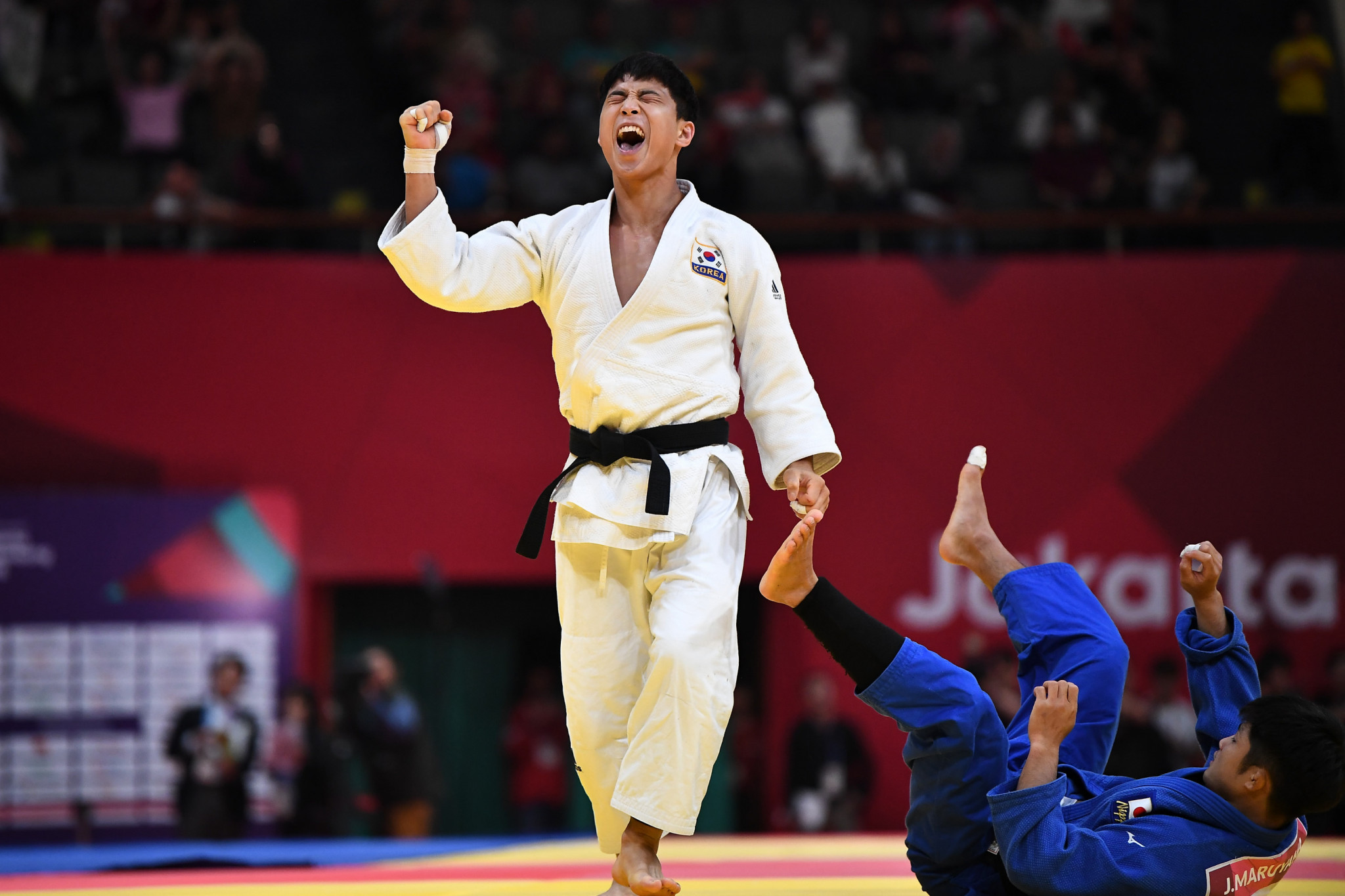South Korea's An Baul earned gold at the IJF World Judo Masters in Doha ©Getty Images