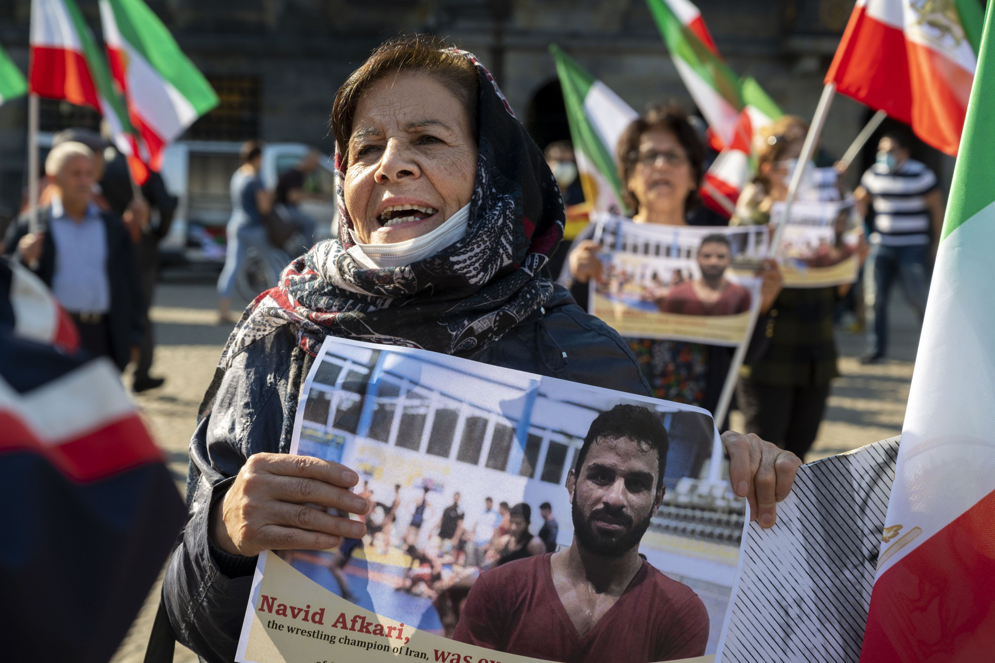 The execution of Iranian wrestler Navid Afkari in September caused widespread condemnation ©Getty Images