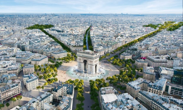"""The Champs-Élysées is set to be made into an """"extraordinary garden"""" after Paris 2024 ©PCA-Stream"""