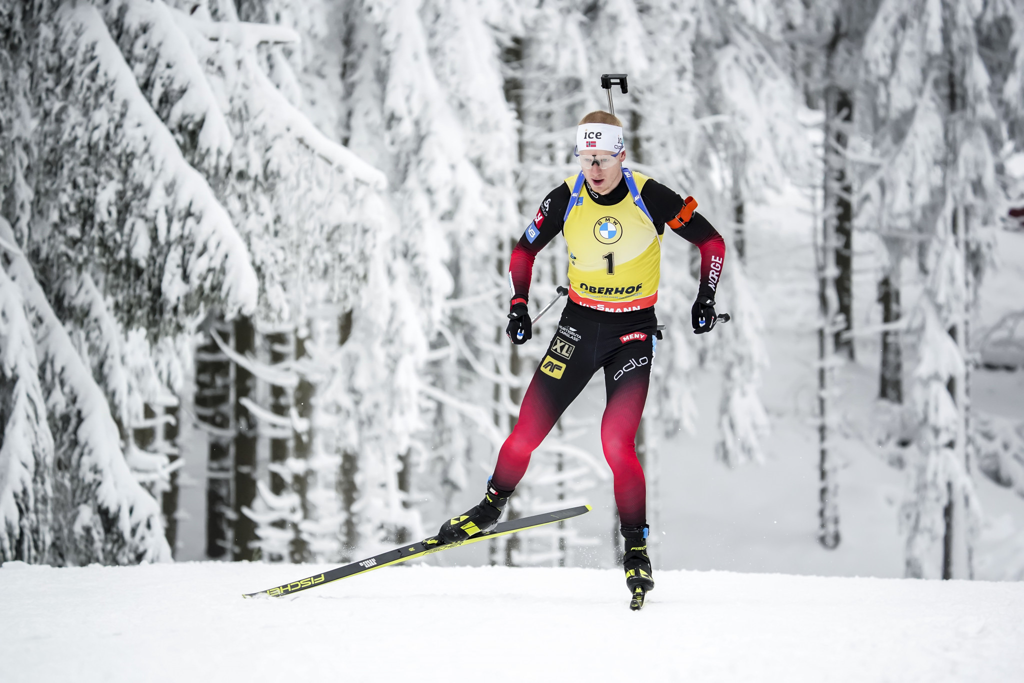 Johannes Thingnes Bø has established a 47-point lead at the top of the overall Biathlon World Cup standings ©Getty Images
