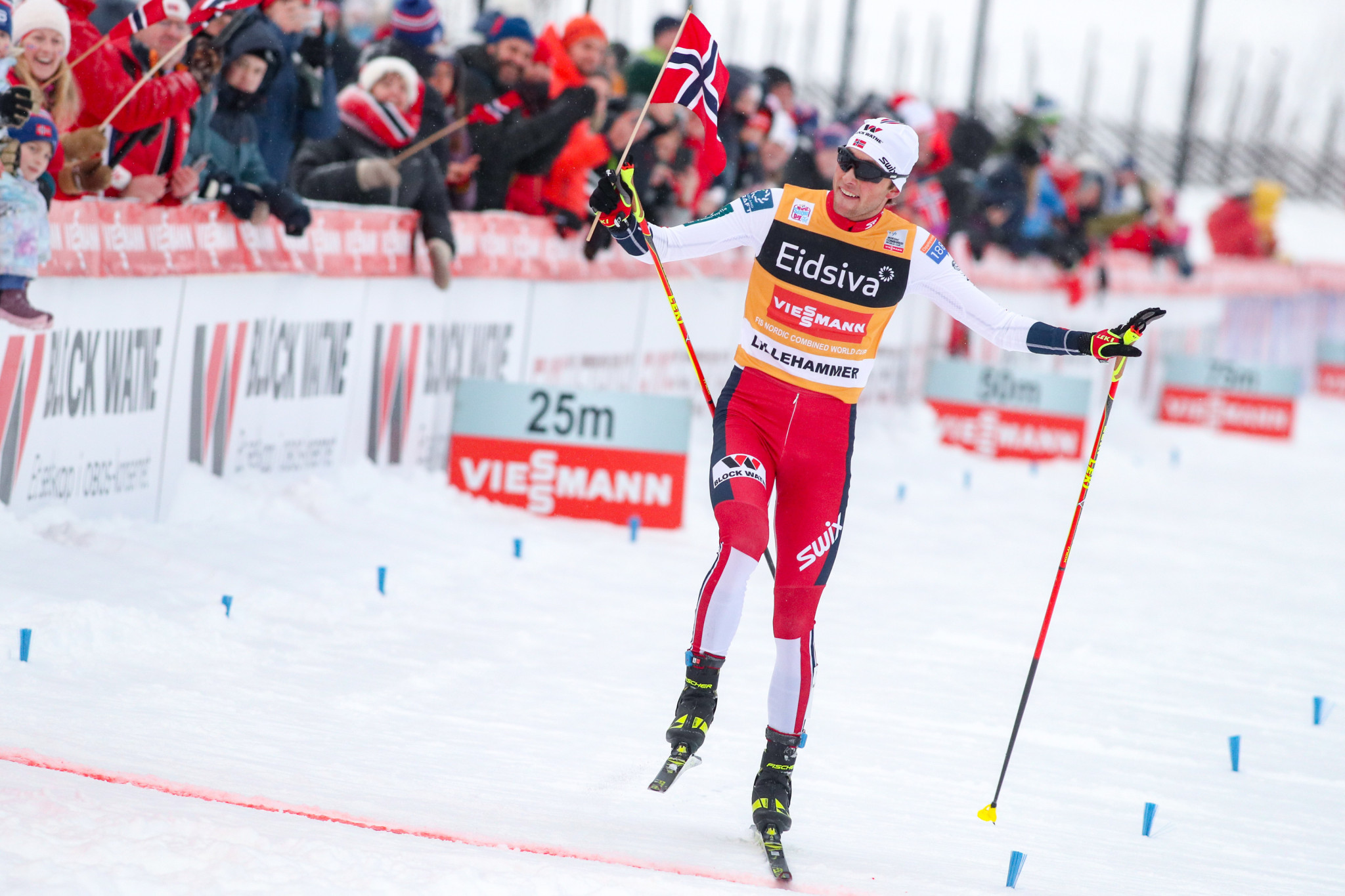 Riiber beats Watabe to opening day Nordic Combined World Cup win in Seefeld on photo-finish