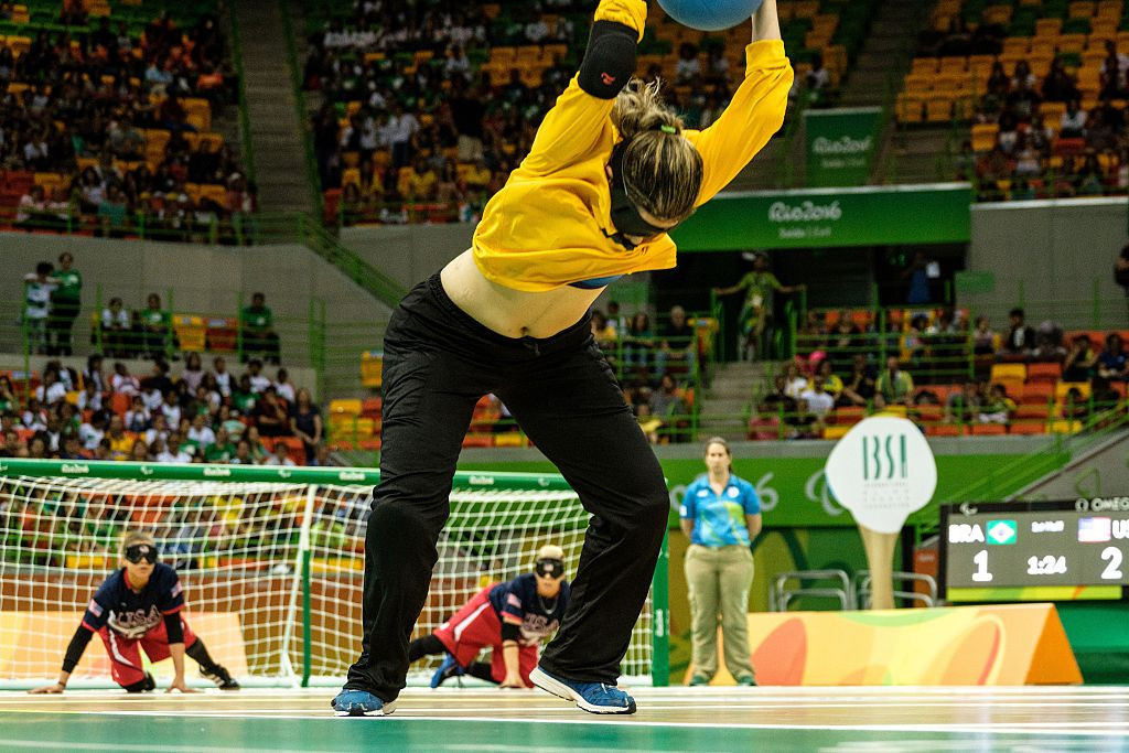 Goalball is among the sports set to feature at the 2024 Paralympic Games in Paris ©Getty Images