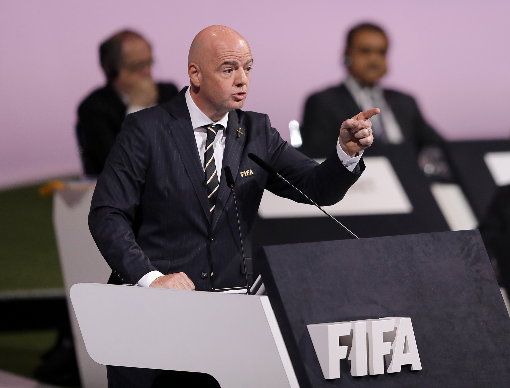 FIFA President Gianni Infantino faces criminal proceedings over his meetings with former Swiss attorney general Michael Lauber ©Getty Images