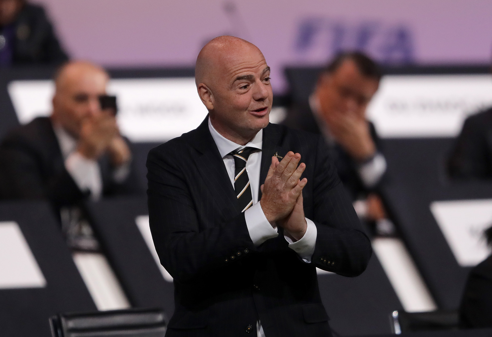 Gianni Infantino has denied any wrongdoing over his meetings with Michael Lauber ©Getty Images