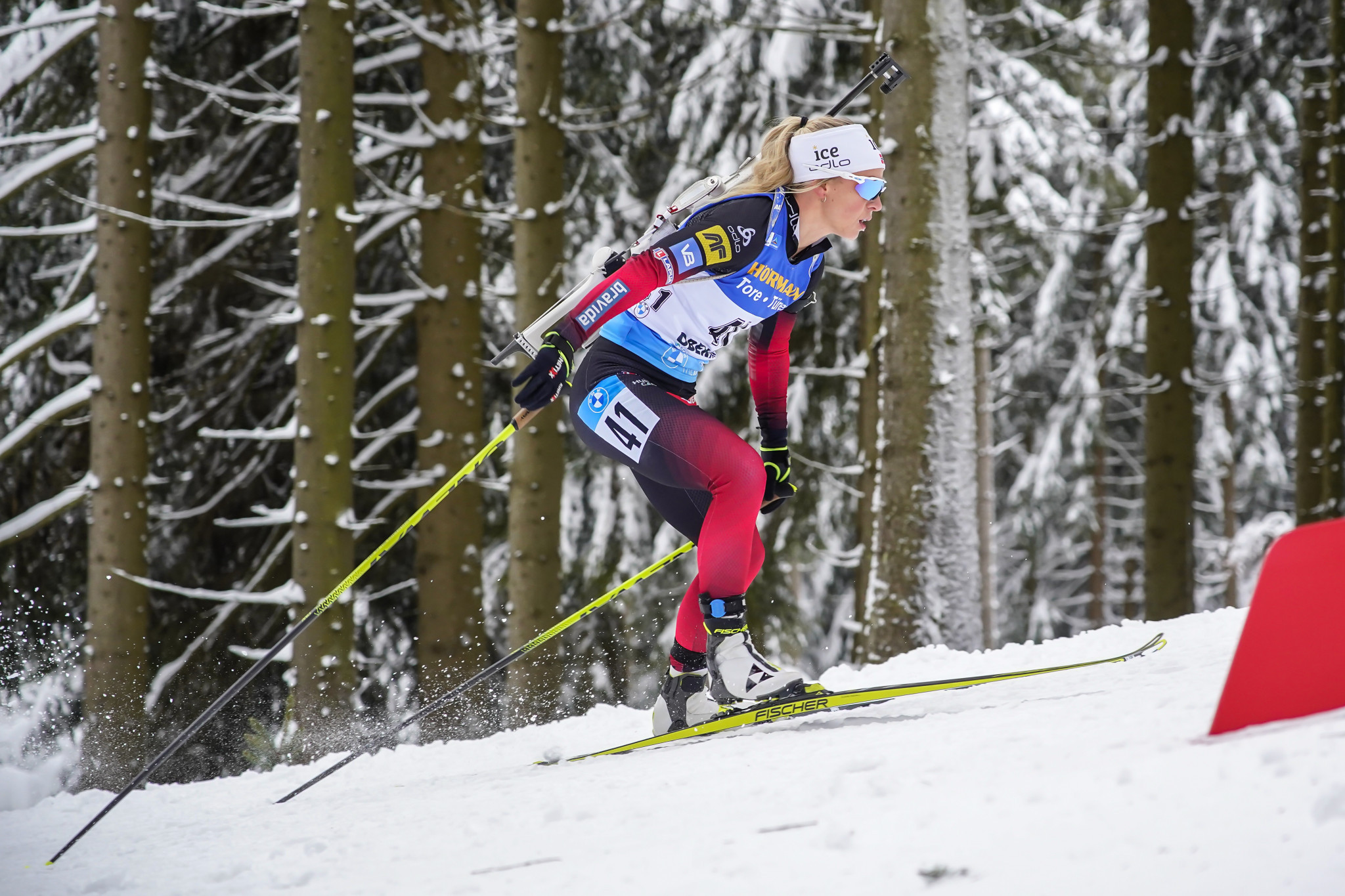 Eckhoff sprints to third successive victory at IBU World Cup in Oberhof