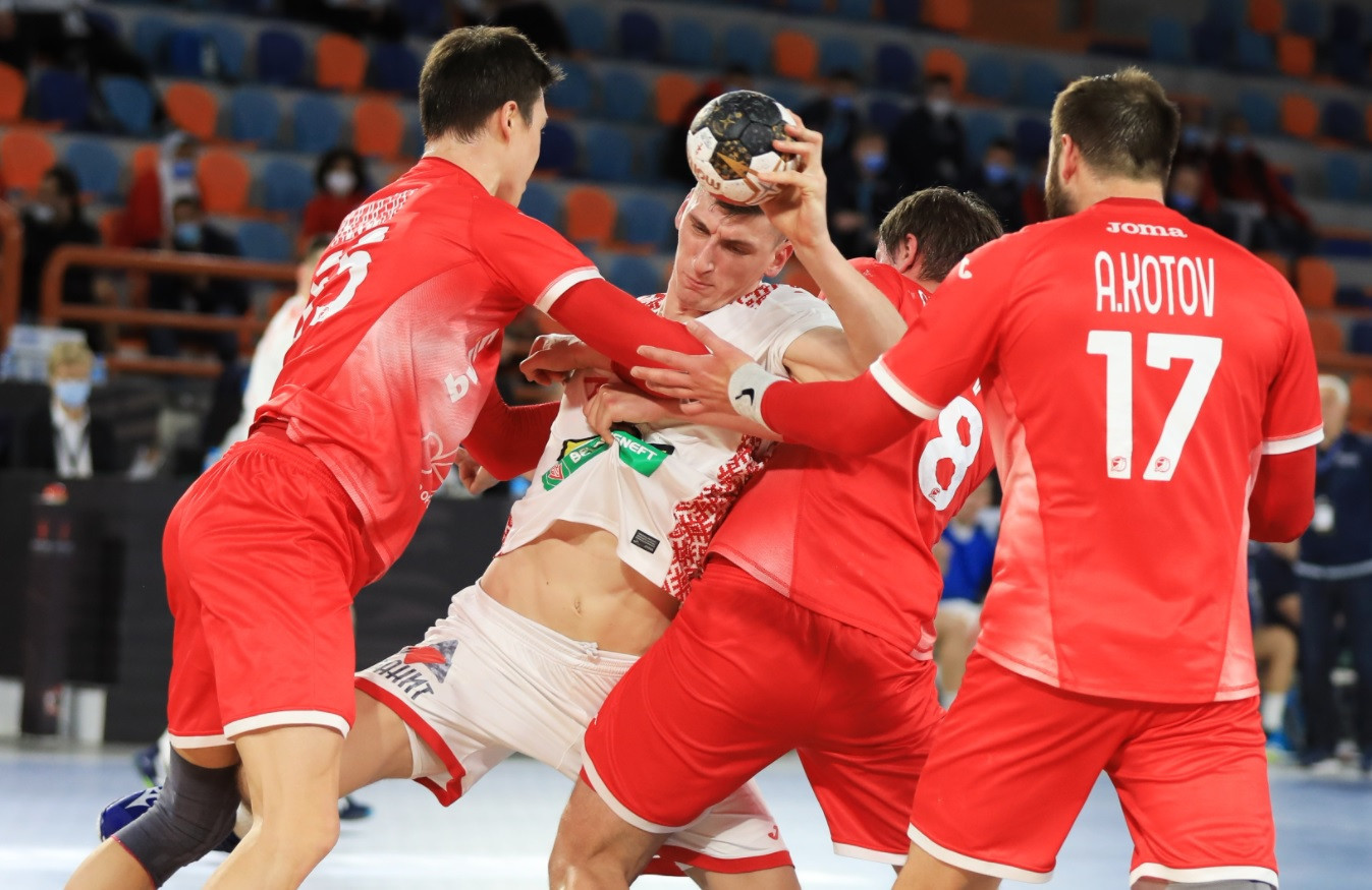 Russia competed as a neutral team for the first time at a major event as they drew with Belarus at the IHF World Men's Handball Championship ©Handball Egypt