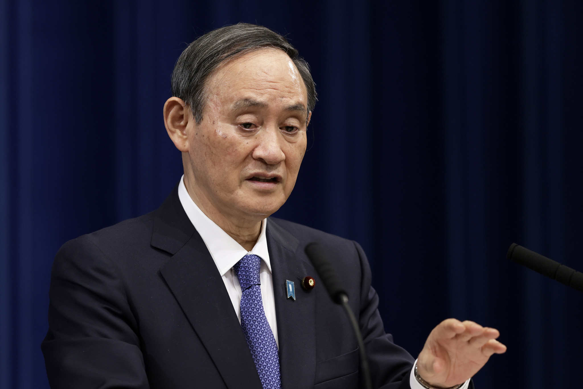 Japanese Prime Minister Yoshihide Suga is keen to hold talks with senior North Korean officials at Tokyo 2020 ©Getty Images