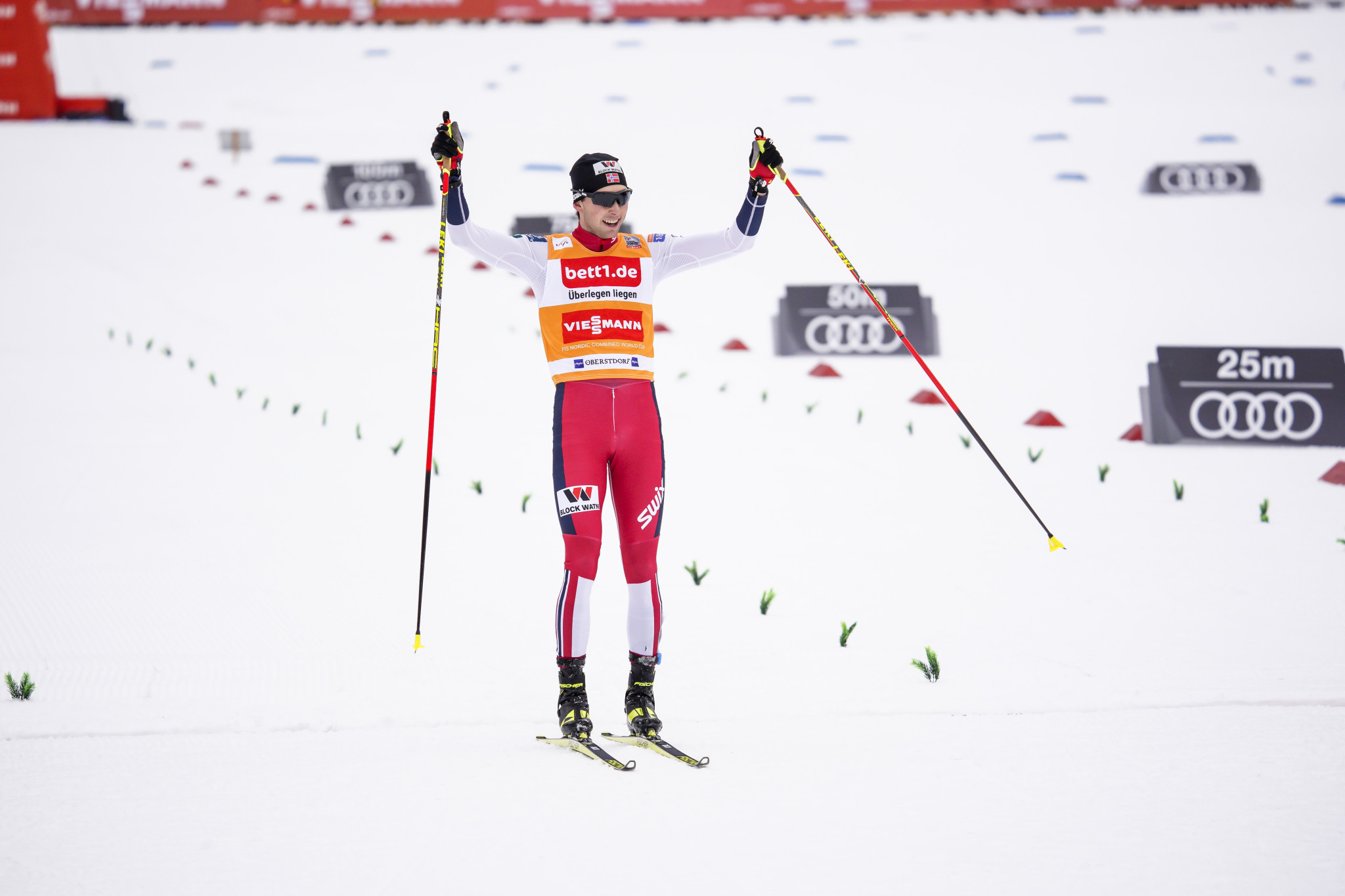 Riiber takes second step towards Triple title at Nordic Combined World Cup