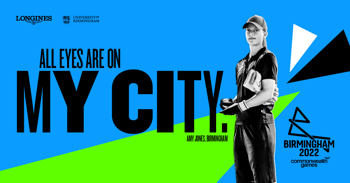 Amy Jones is featuring in Birmingham 2022's latest promotional campaign for the Games ©Birmingham 2022