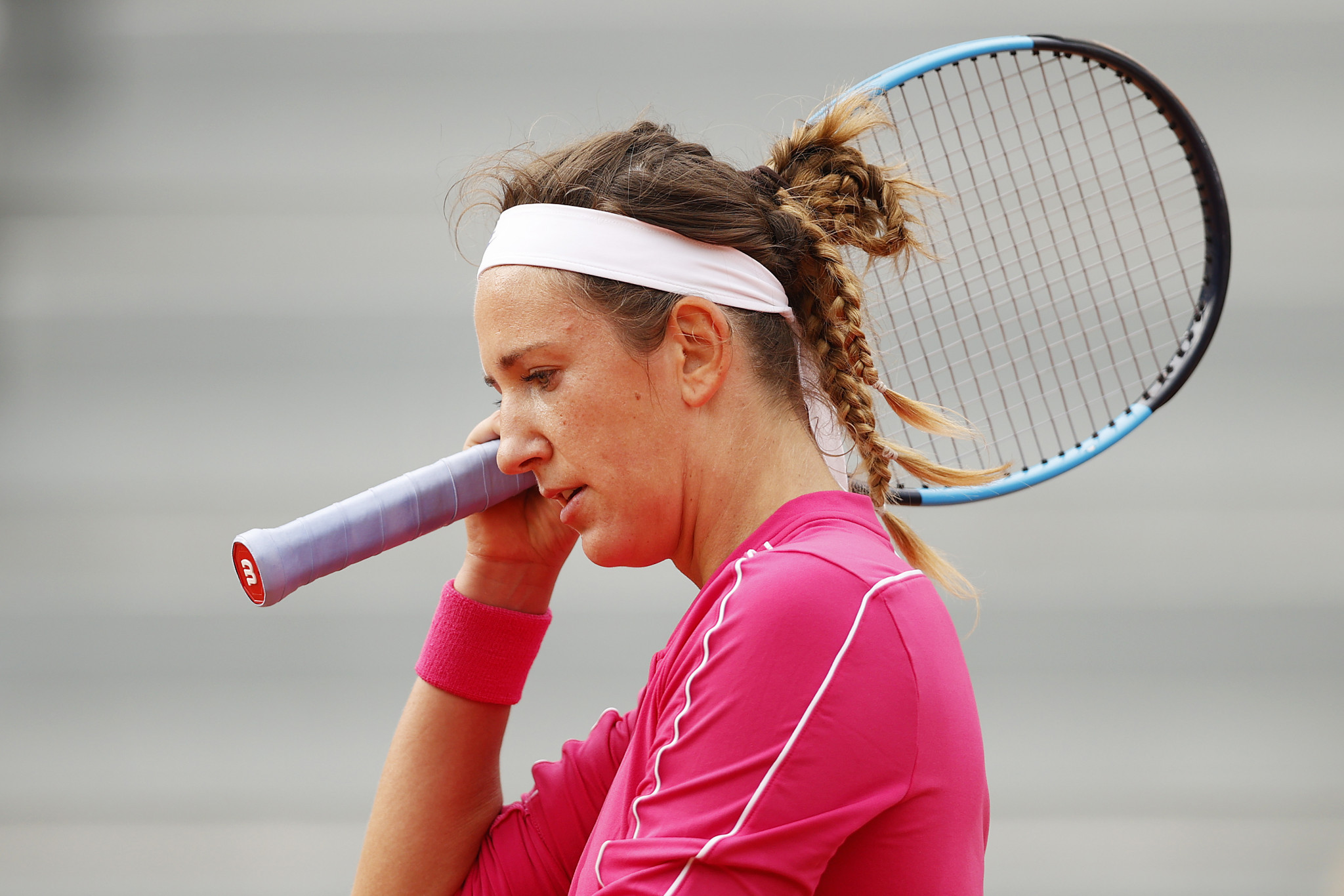 Victoria Azarenka is believed to be among 47 players who have been forced to isolate in their hotel rooms for 14 days ©Getty Images