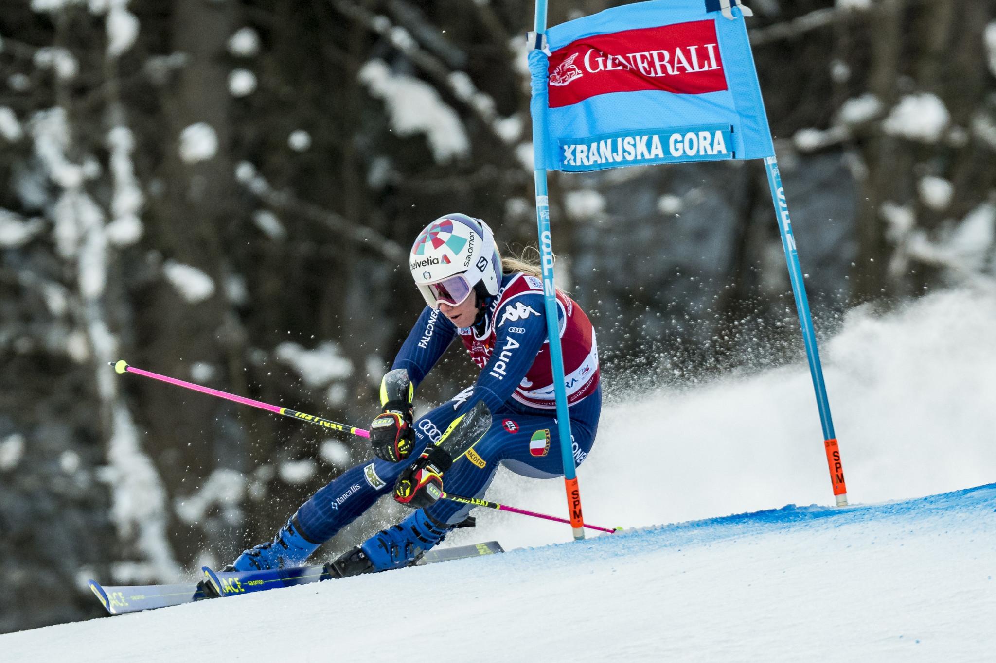 Bassino collects third giant slalom win of the season in Kranjska Gora