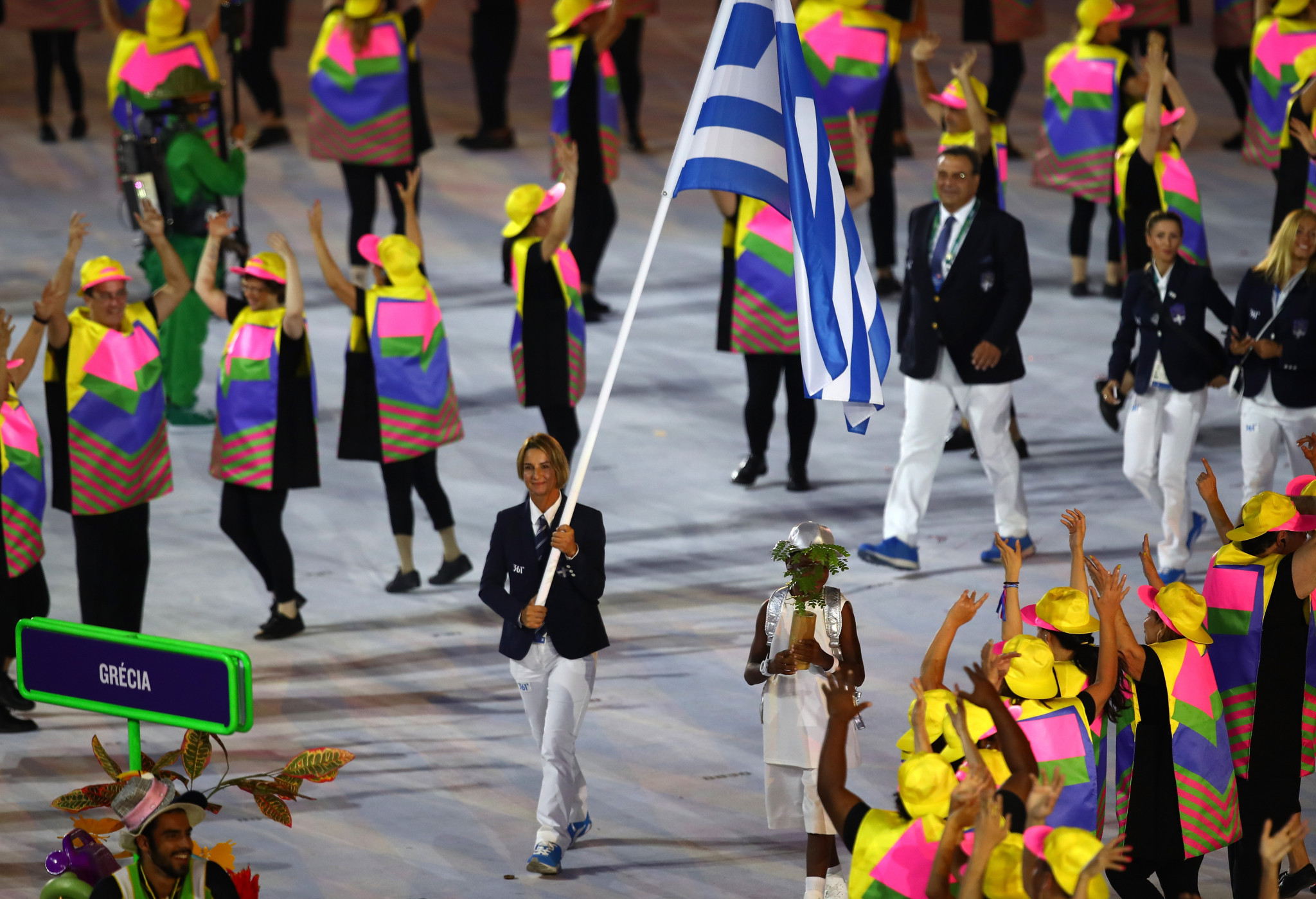 Sofia Bekatorou, who carried Greece's flag at Rio 2016, made the allegation during an online conference ©Getty Images