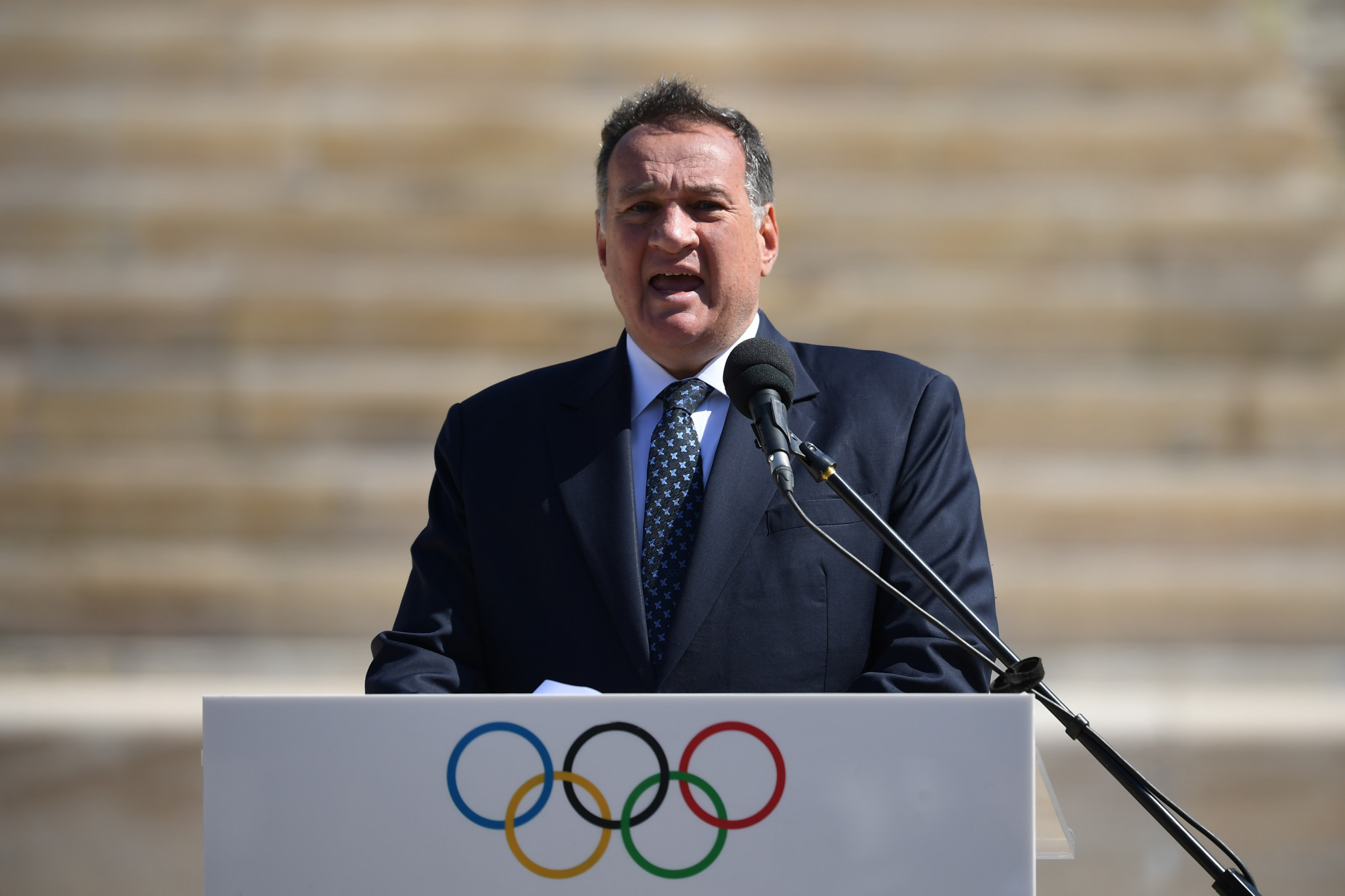 Hellenic Olympic Committee President Spyros Capralos vowed to support Sofia Bekatorou  ©Getty Images