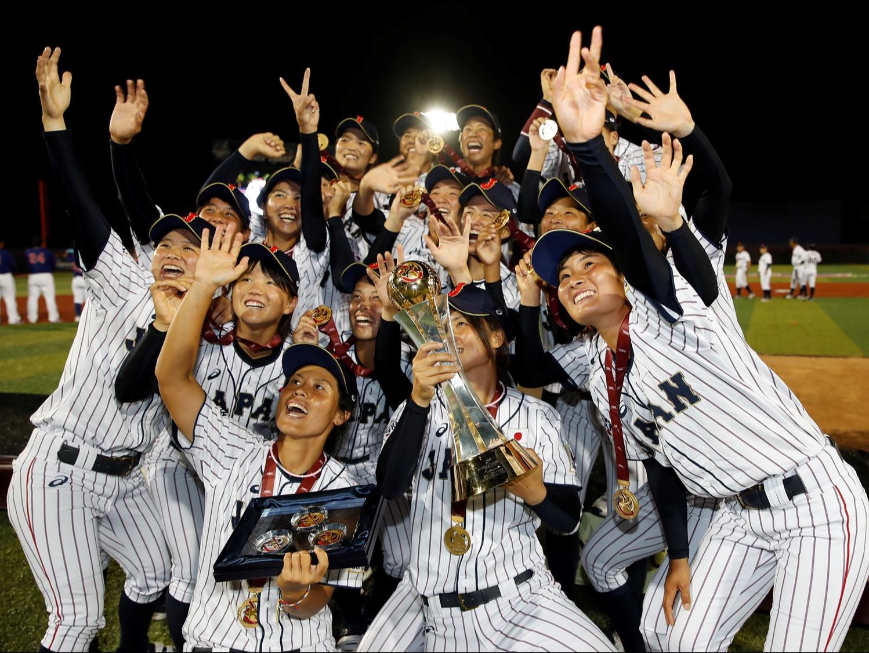 Japan's women's baseball team are seeking a seventh World Cup win in a row ©WBSC