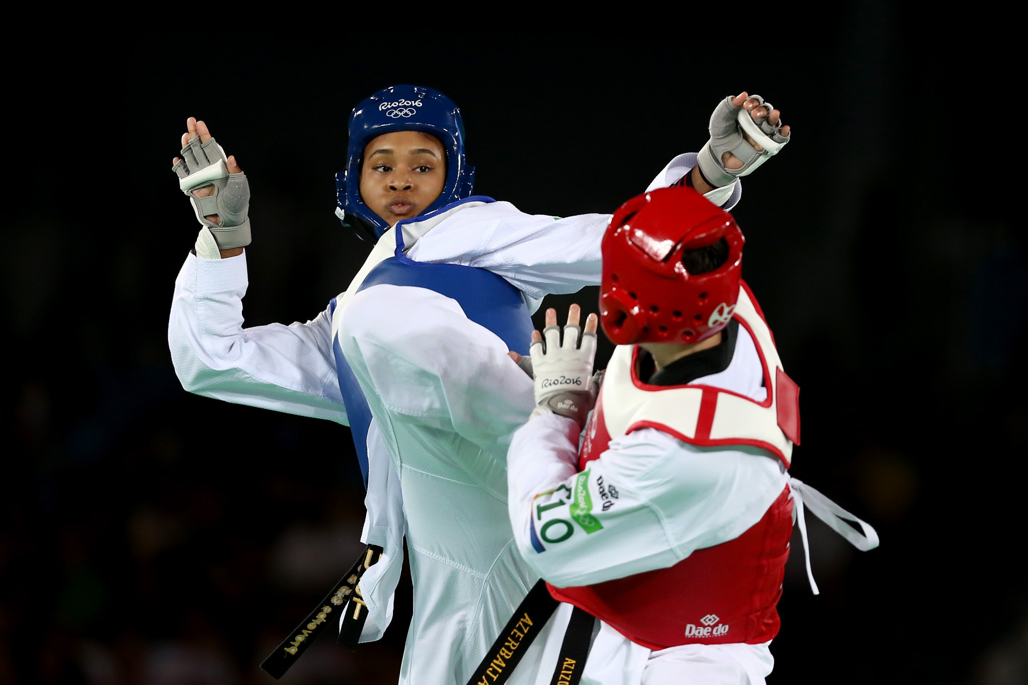 Paige McPherson, in blue, has won three Pan American Games medals, including silver at Lima 2019 ©Getty Images