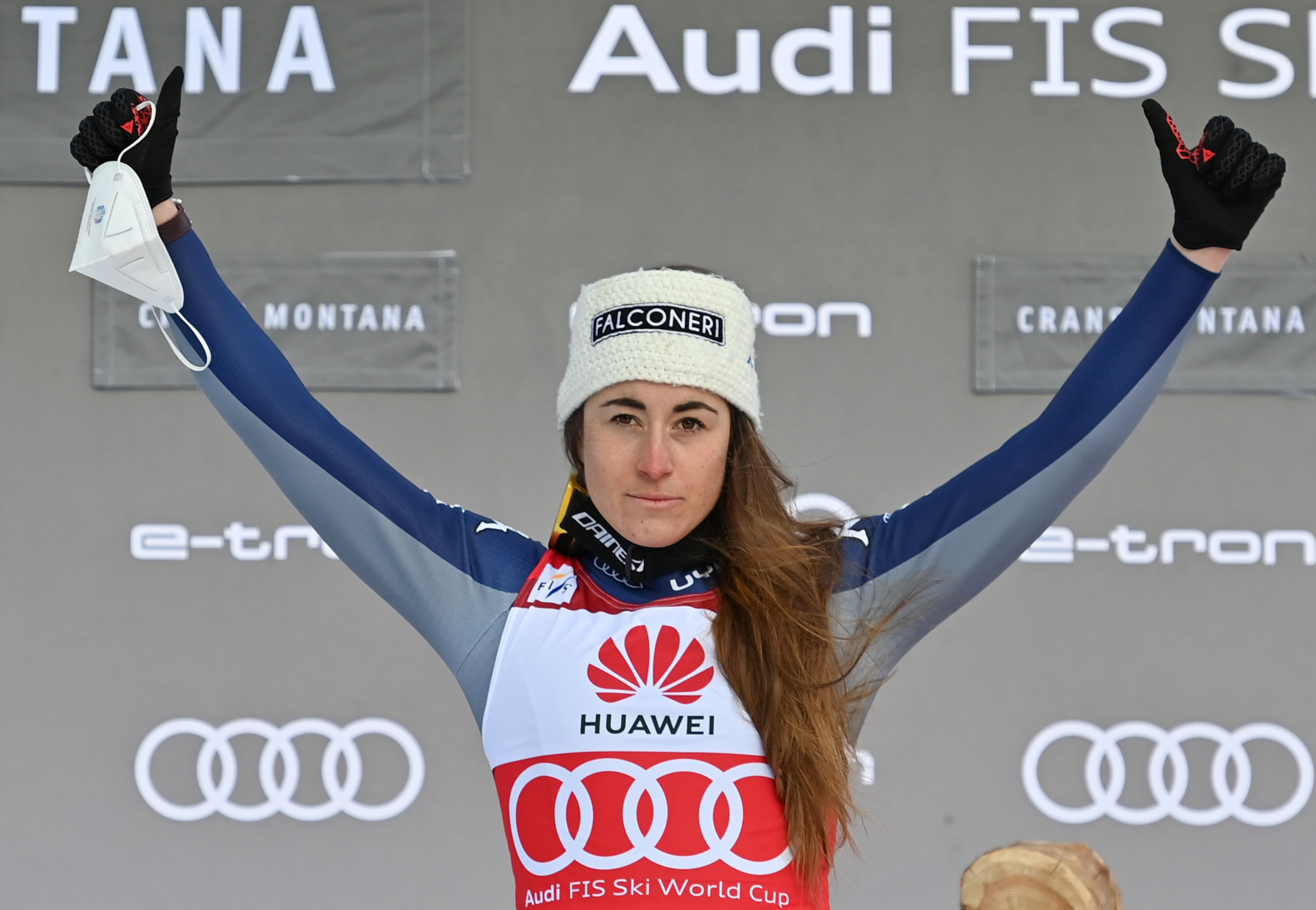 Olympic champion Goggia wins Crans-Montana downhill for 10th World Cup victory